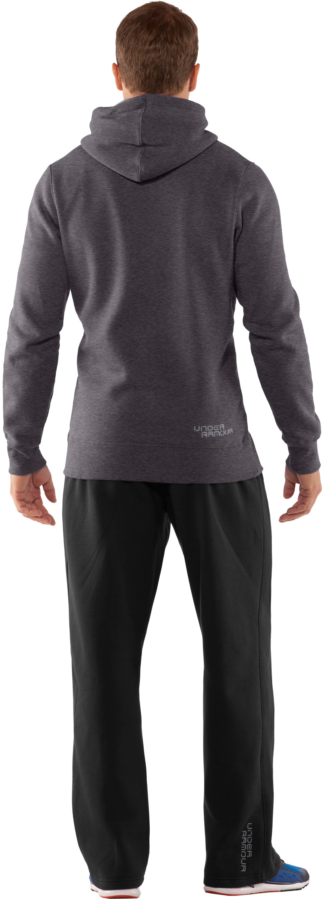 Men's Charged Cotton® Storm Pullover Hoodie, Carbon Heather, Back