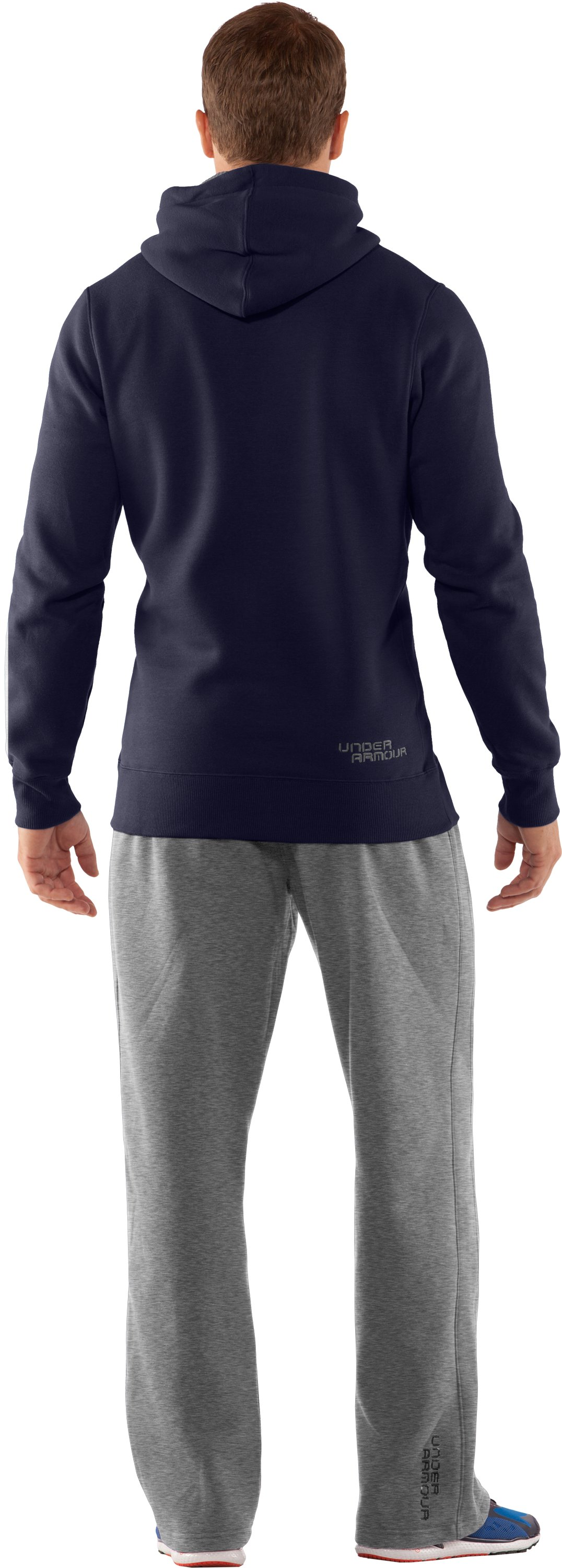 Men's Charged Cotton® Storm Pullover Hoodie, Midnight Navy, Back