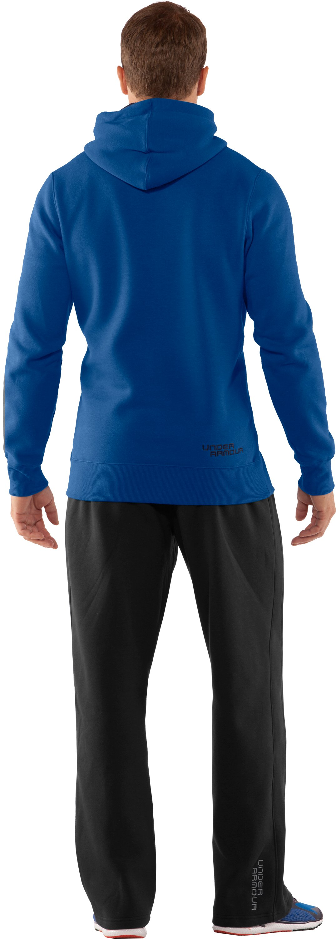 Men's Charged Cotton® Storm Pullover Hoodie, EMPIRE BLUE, Back