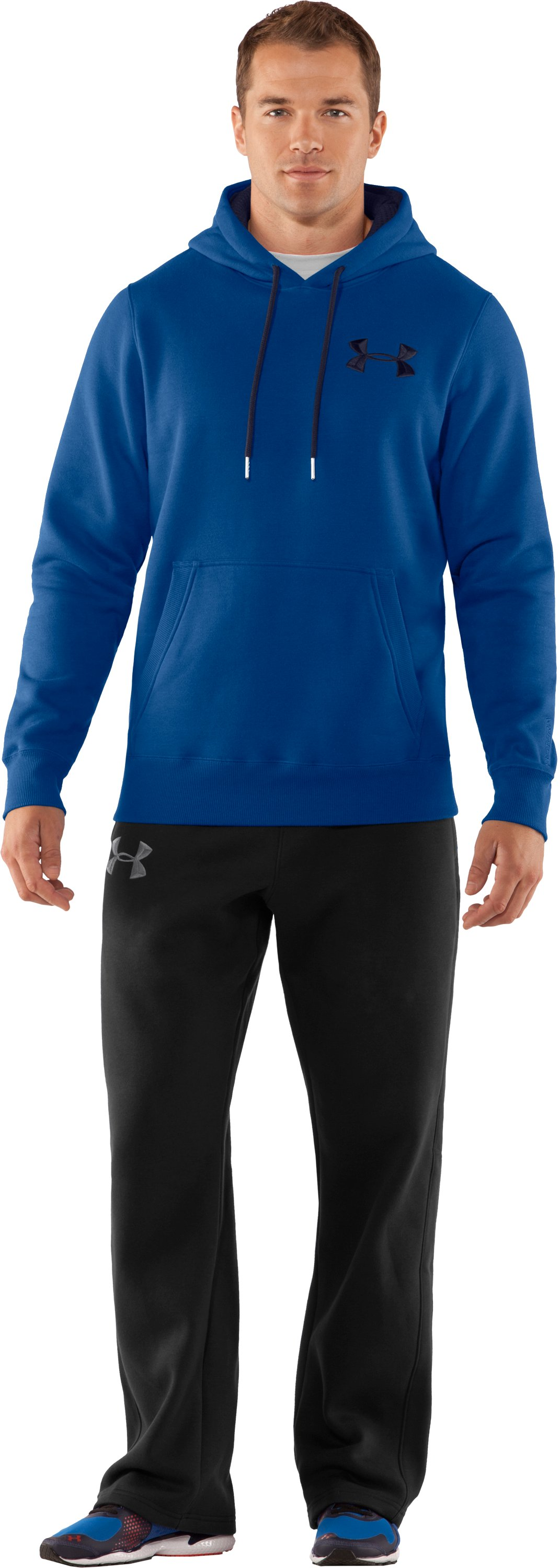 Men's Charged Cotton® Storm Pullover Hoodie, EMPIRE BLUE, Front