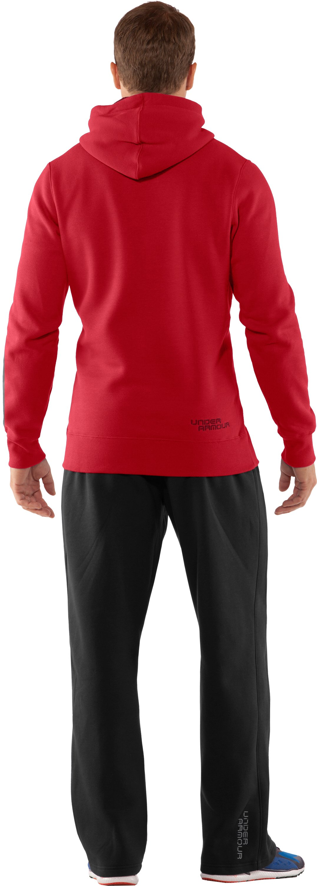 Men's Charged Cotton® Storm Pullover Hoodie, Red, Back
