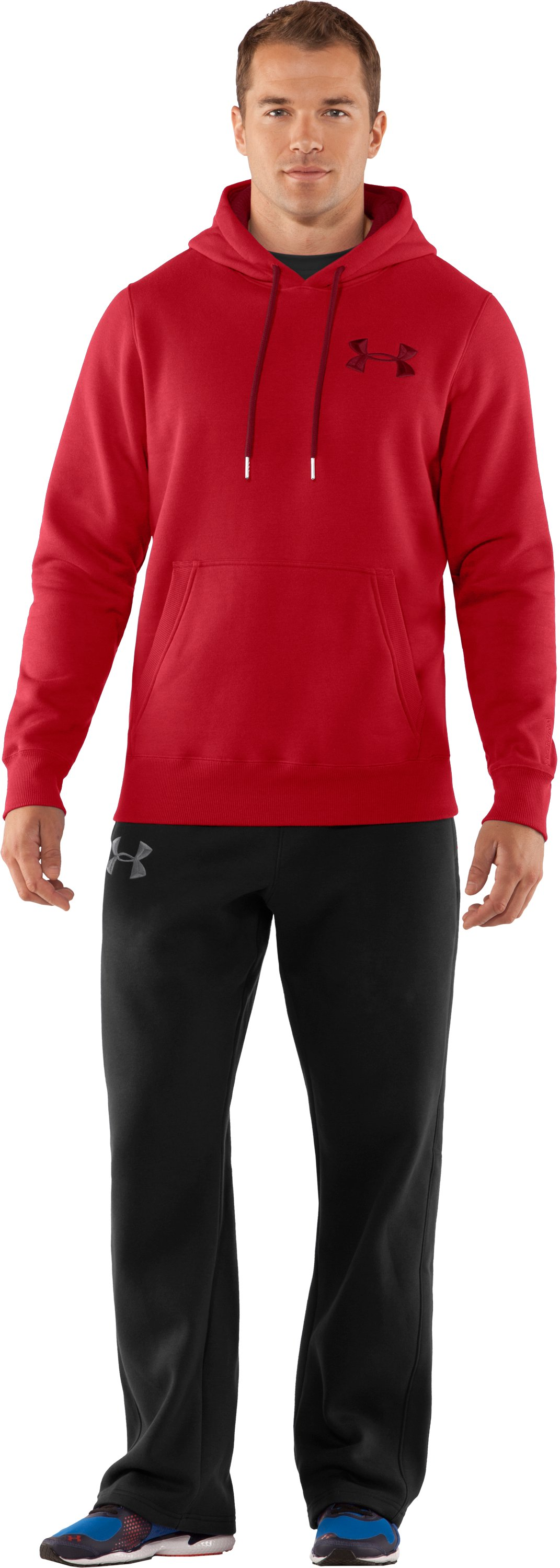 Men's Charged Cotton® Storm Pullover Hoodie, Red