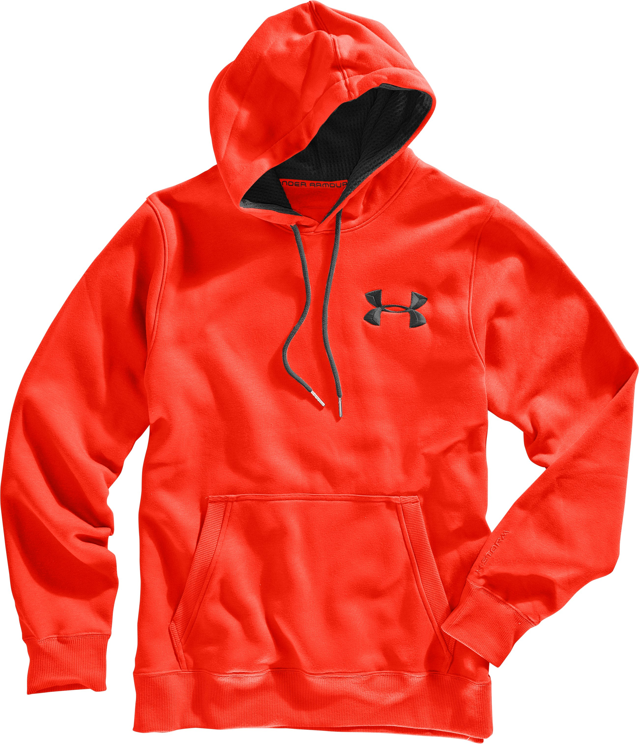 Men's Charged Cotton® Storm Pullover Hoodie, Fuego, Laydown