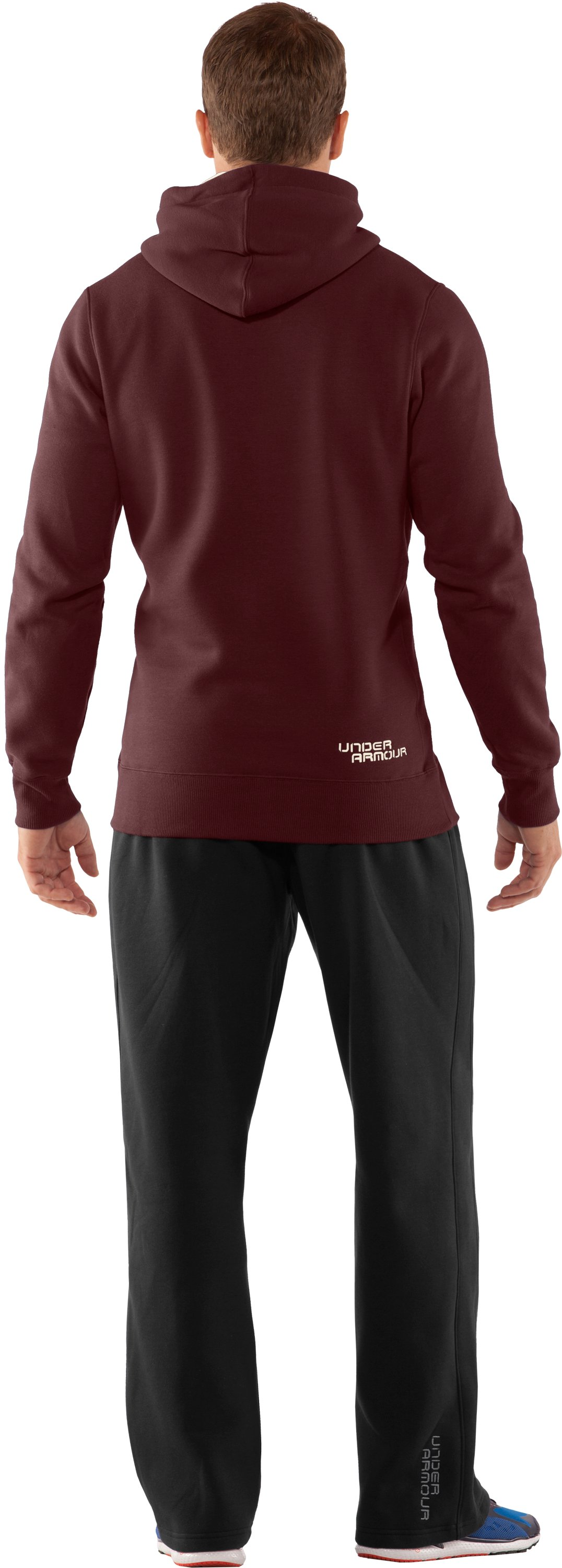 Men's Charged Cotton® Storm Pullover Hoodie, Ox Blood, Back