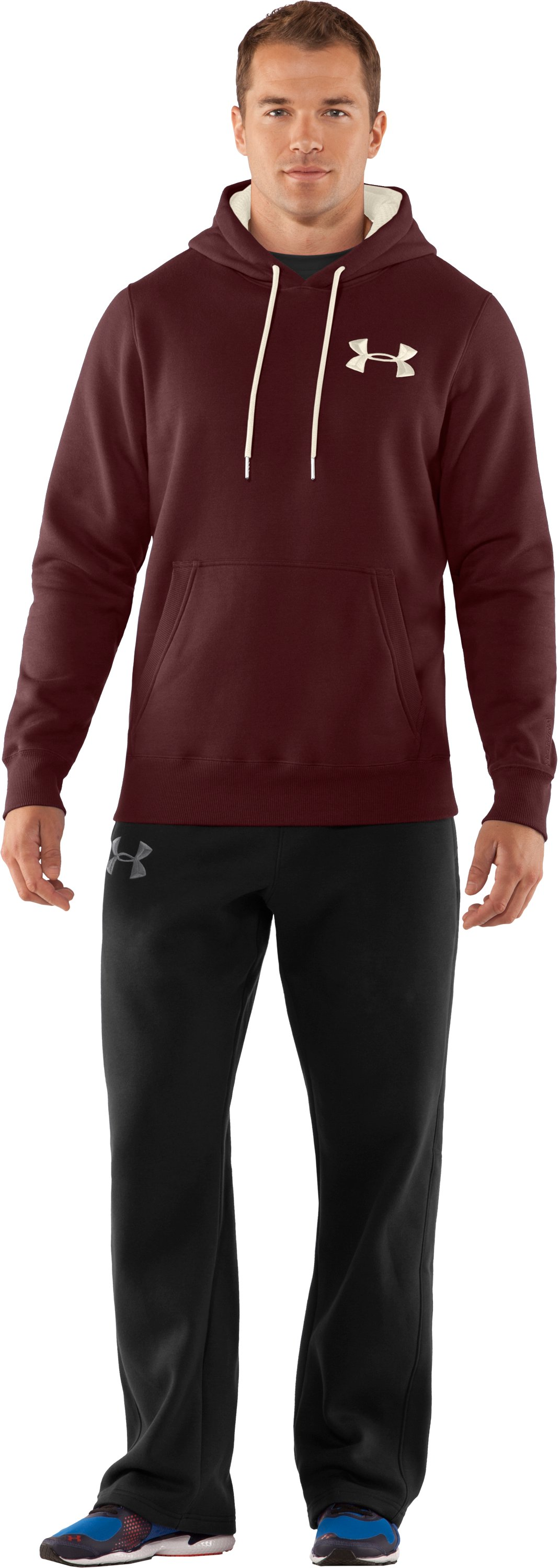 Men's Charged Cotton® Storm Pullover Hoodie, Ox Blood, Front