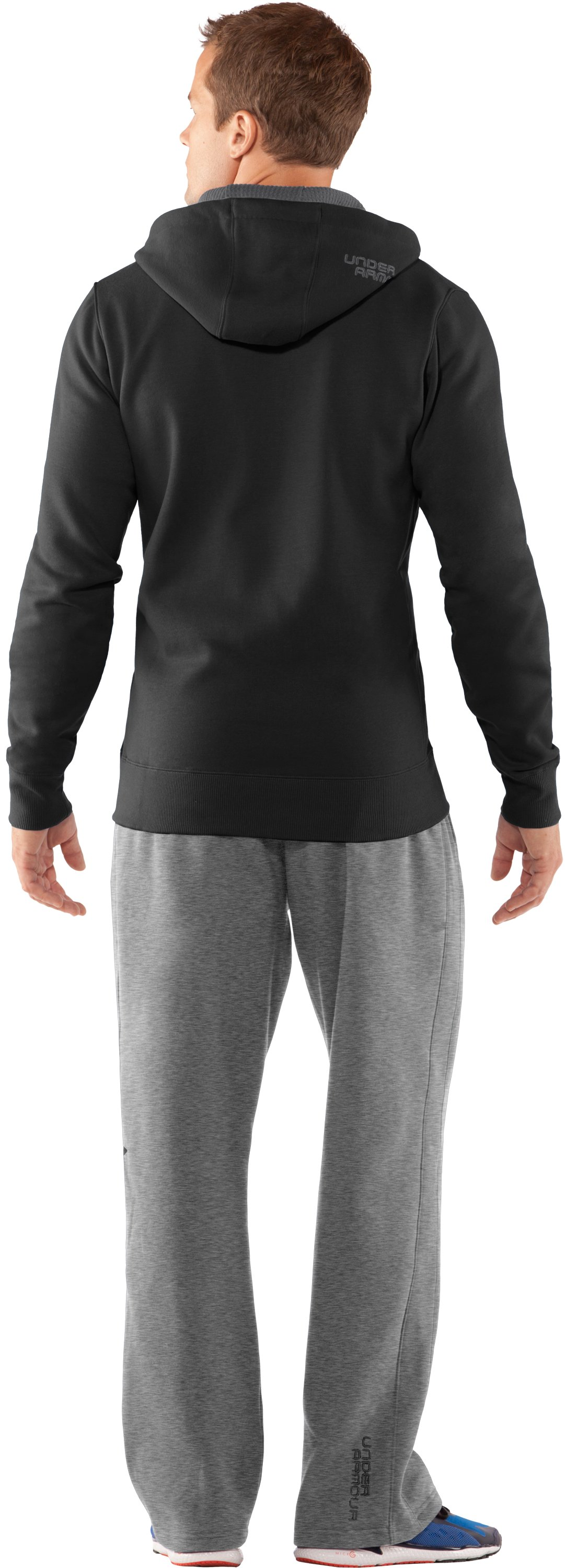Men's Charged Cotton® Storm Full Zip Hoodie, Black , Back