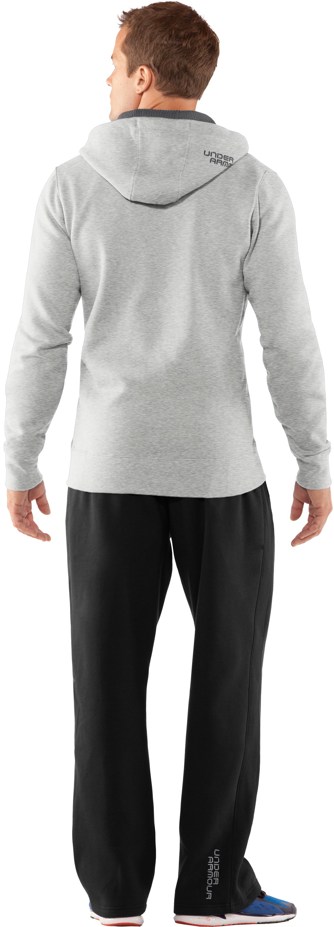 Men's Charged Cotton® Storm Full Zip Hoodie, Silver Heather, Back
