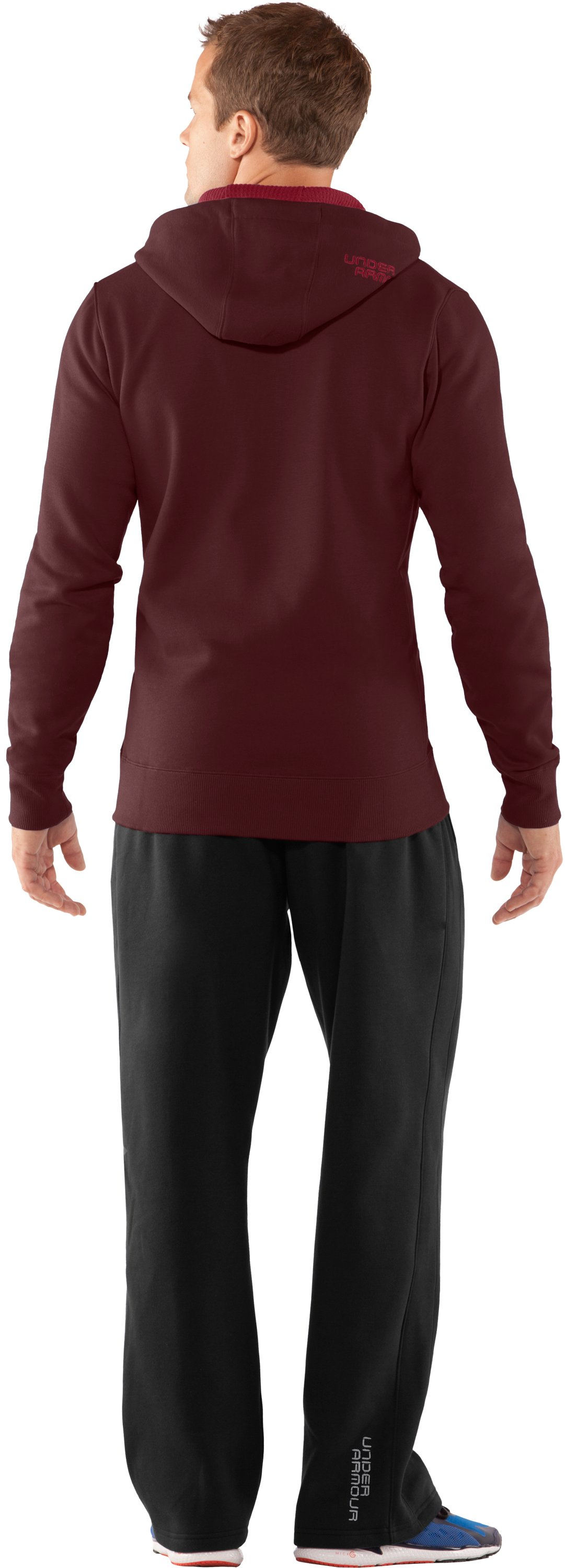 Men's Charged Cotton® Storm Full Zip Hoodie, Ox Blood, Back