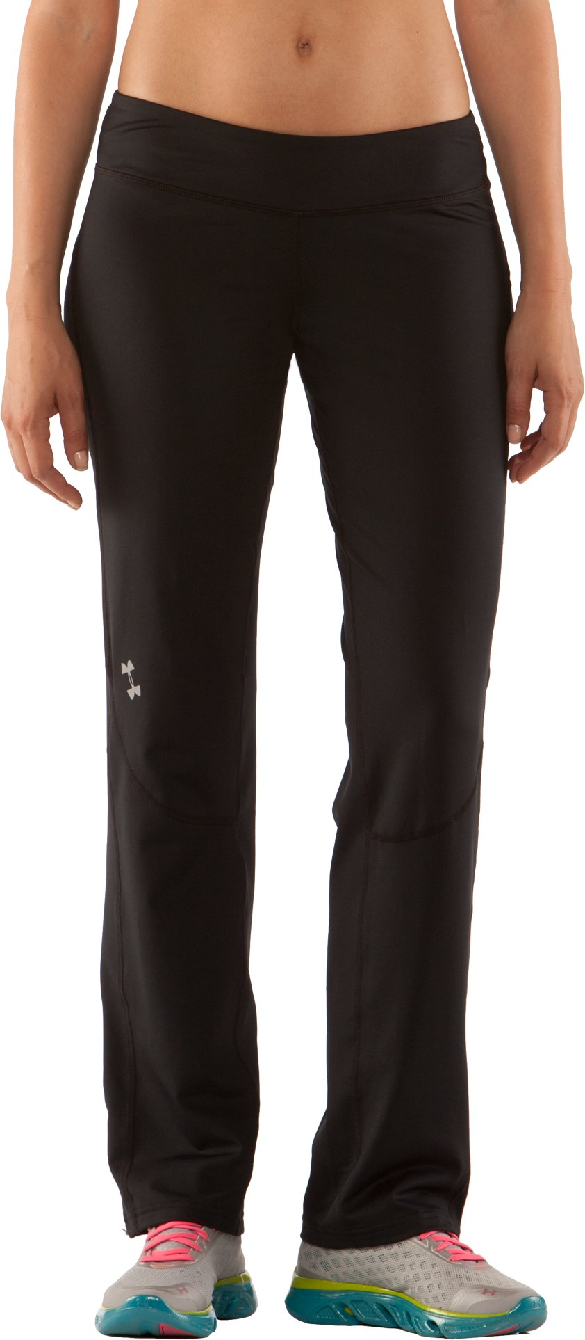 Women's UA AllSeasonGear® Run Fitted Pant, Black , zoomed image