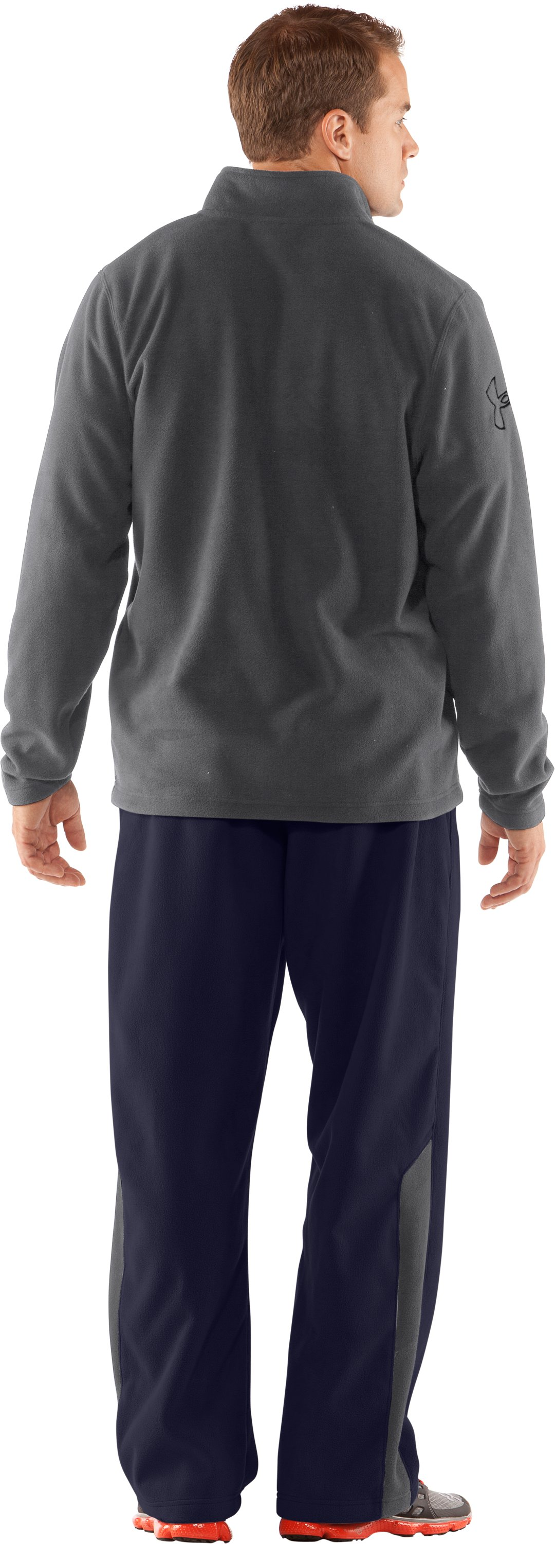 Men's UA Fever ¼ Zip Fleece, Graphite, Back