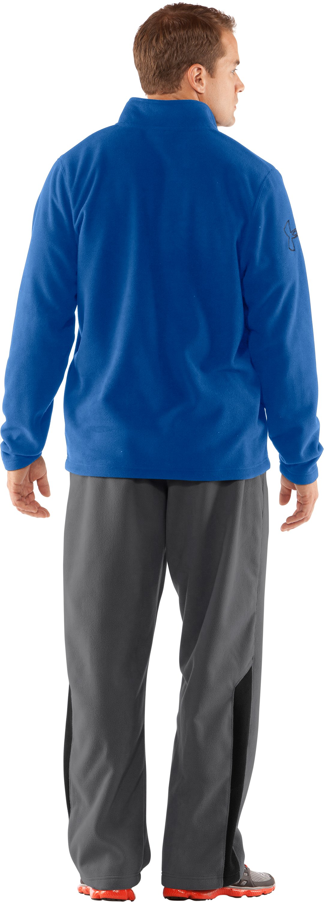 Men's UA Fever ¼ Zip Fleece, Squadron, Back