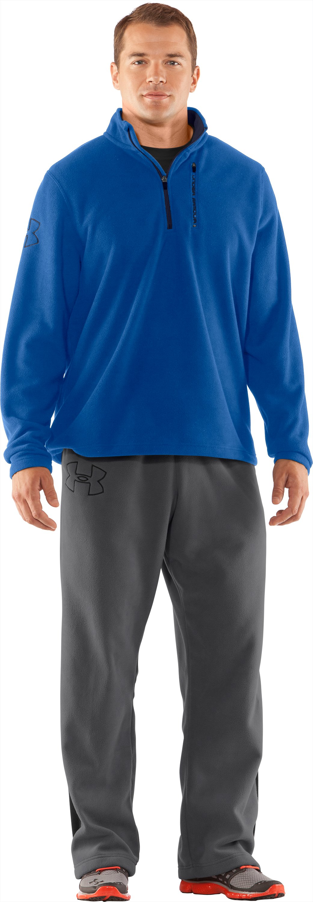Men's UA Fever ¼ Zip Fleece, Squadron, Front