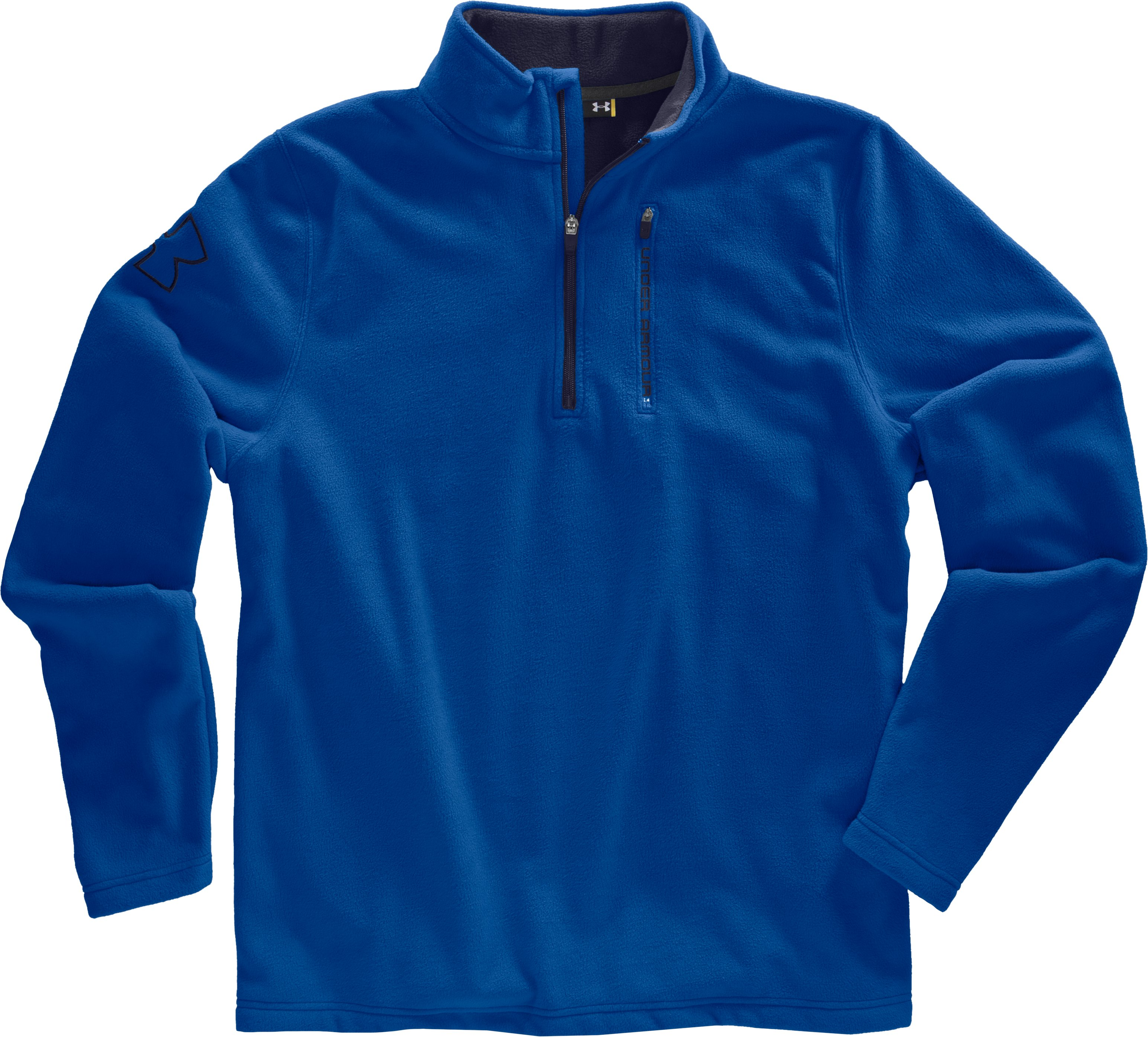 Men's UA Fever ¼ Zip Fleece, Squadron, Laydown