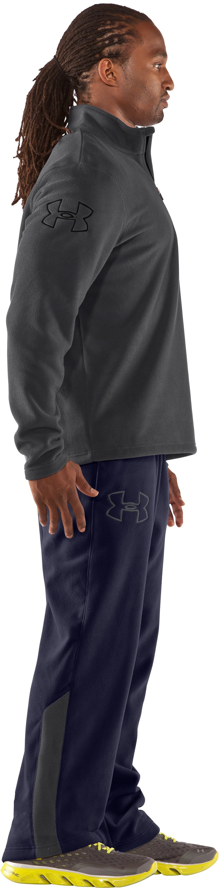 Men's UA Fever Fleece Pants, Midnight Navy