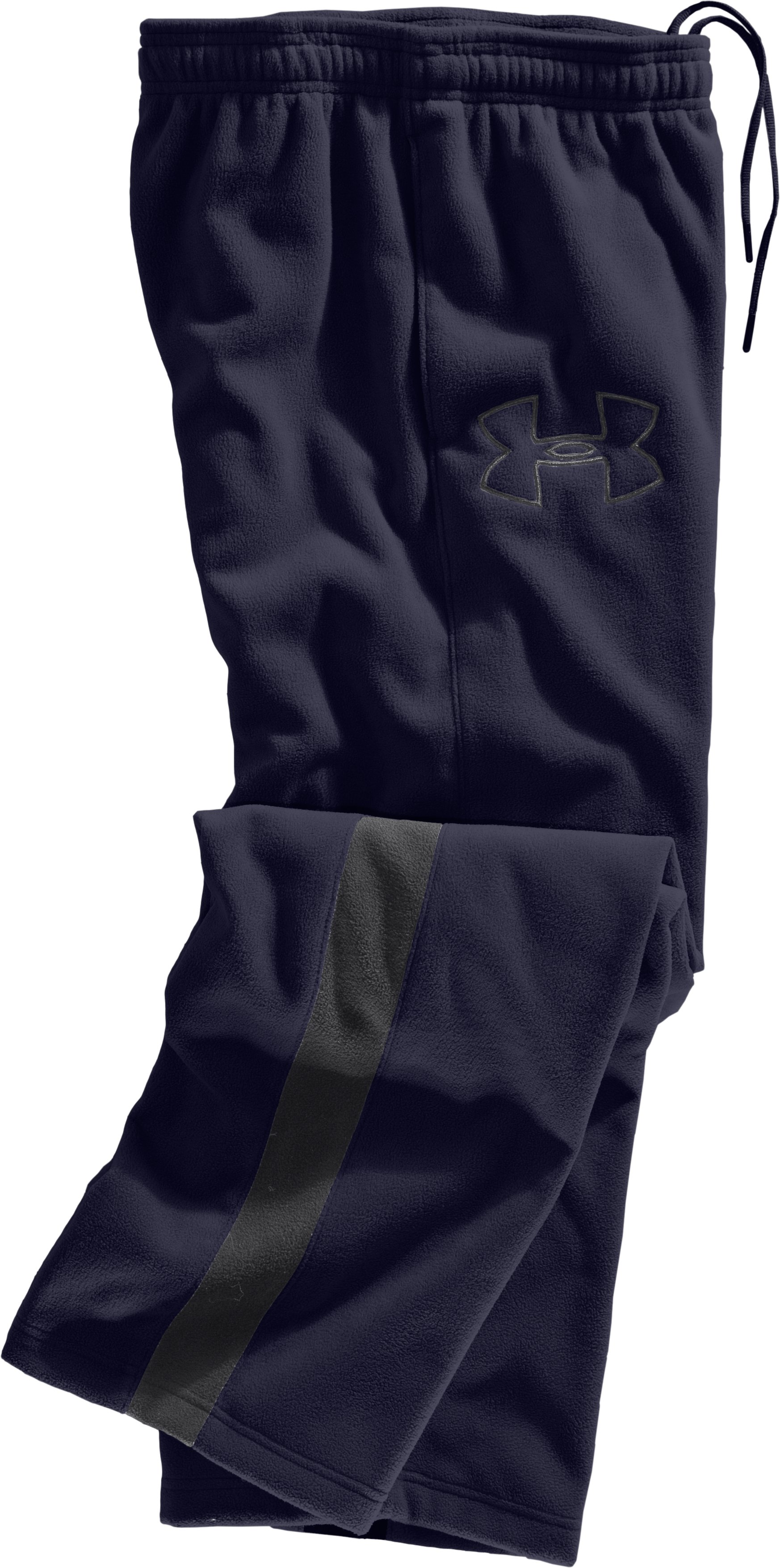 Men's UA Fever Fleece Pants, Midnight Navy, Laydown