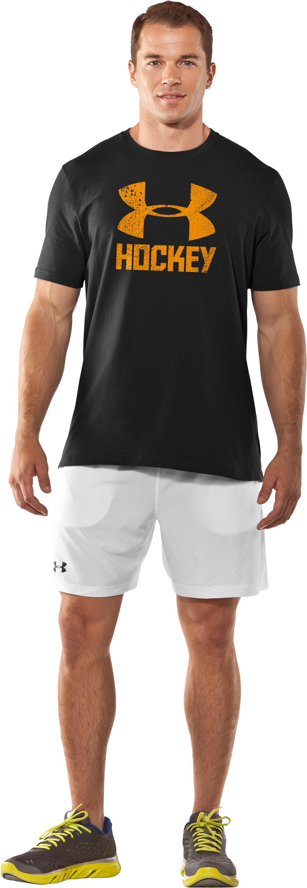 Men's UA Hockey Icon T-Shirt, Black , Front