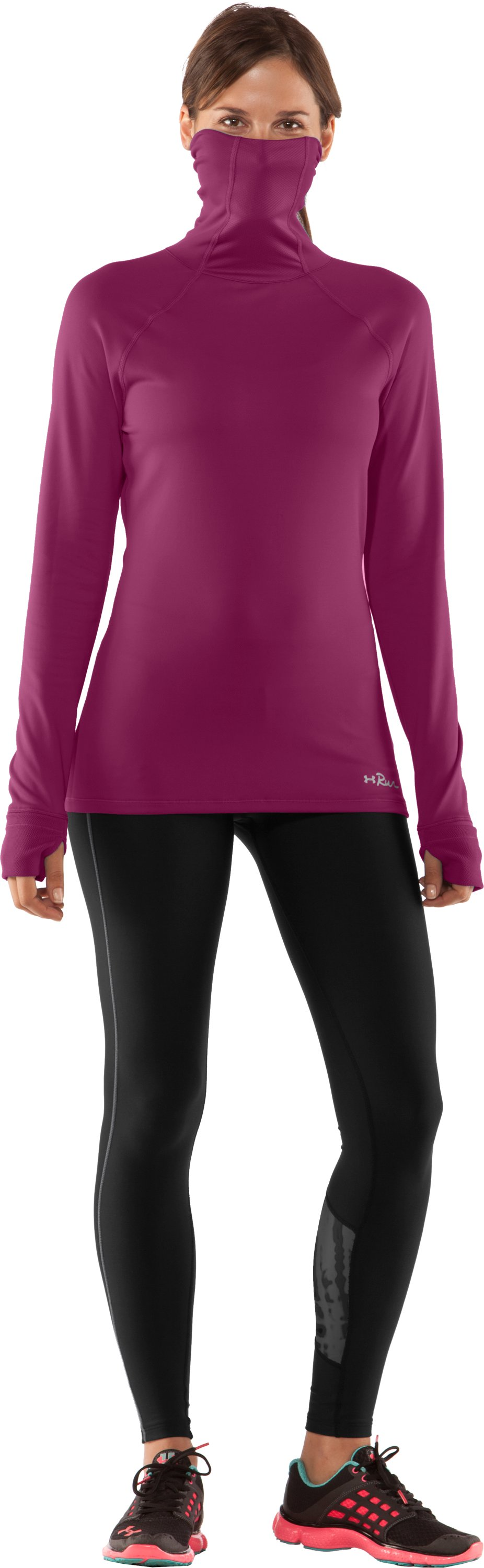 Women's UA Fly By Turtleneck, Rosewood