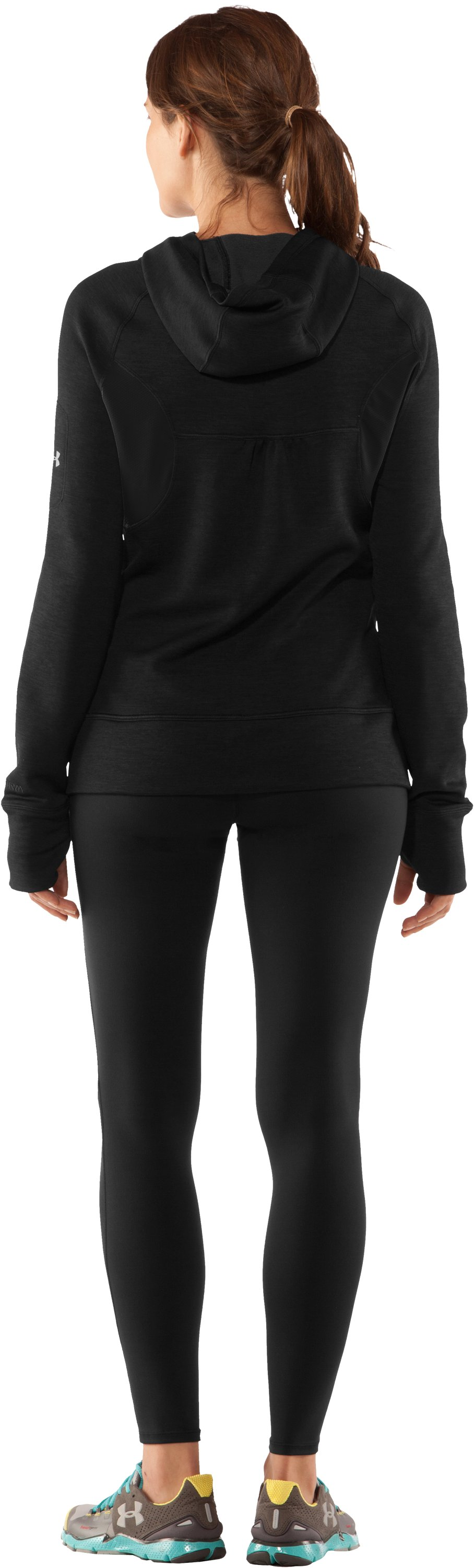 Women's UA Storm Fleece Full Zip, Black , Back