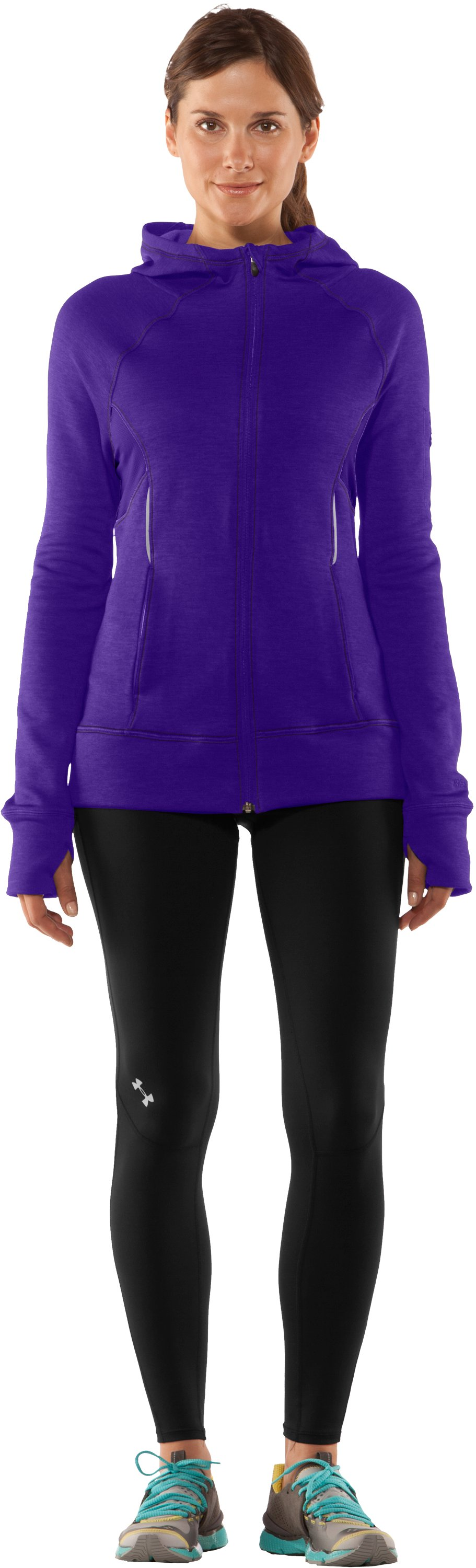 Women's UA Storm Fleece Full Zip, Zone, Front