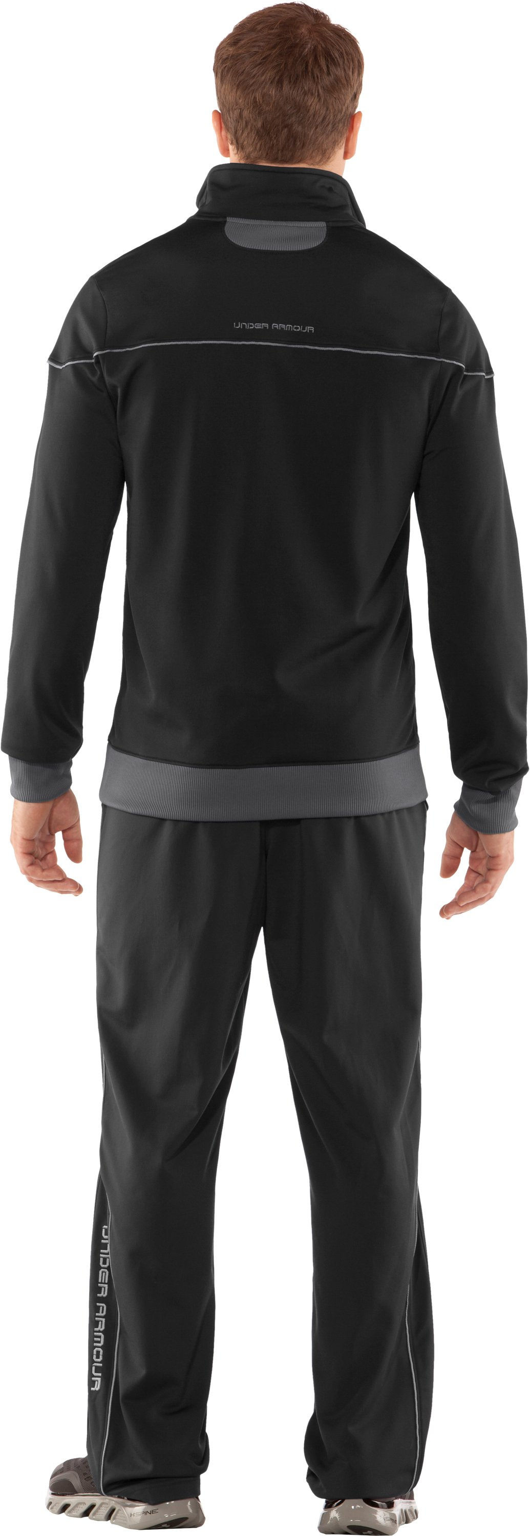 Men's UA Strength Track Jacket, Black , Back