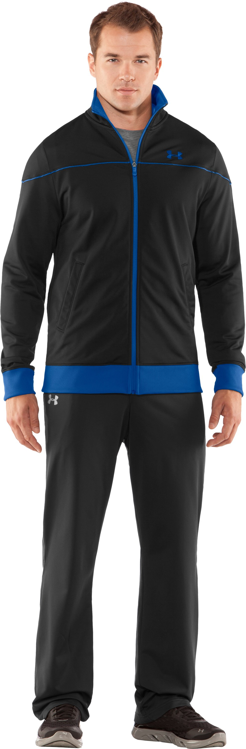 Men's UA Strength Track Jacket, Black , zoomed image