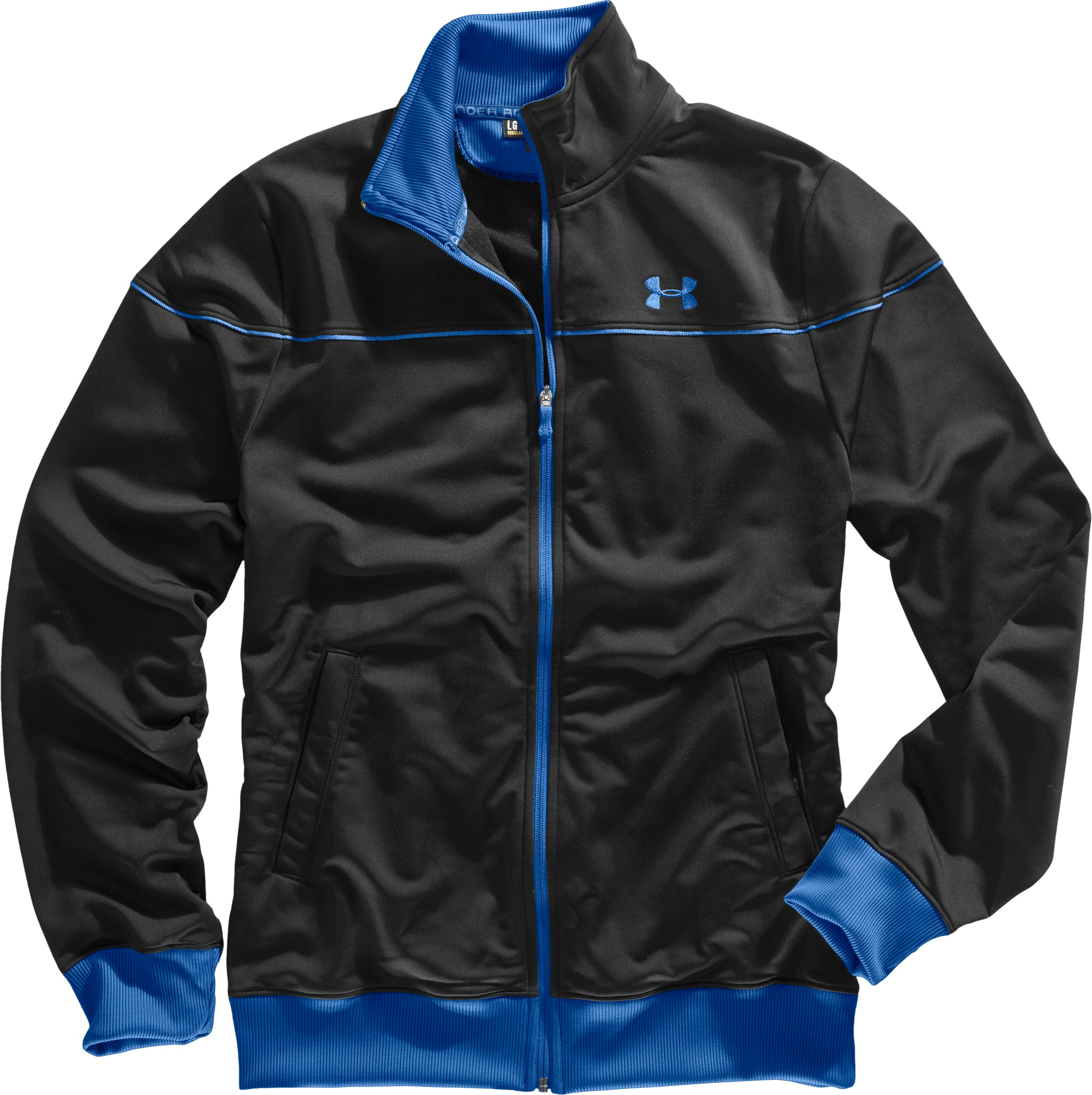 Men's UA Strength Track Jacket, Black , Laydown
