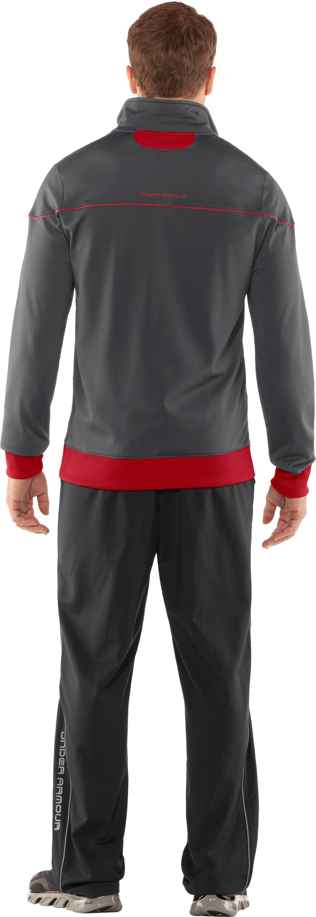 Men's UA Strength Track Jacket, Graphite, Back