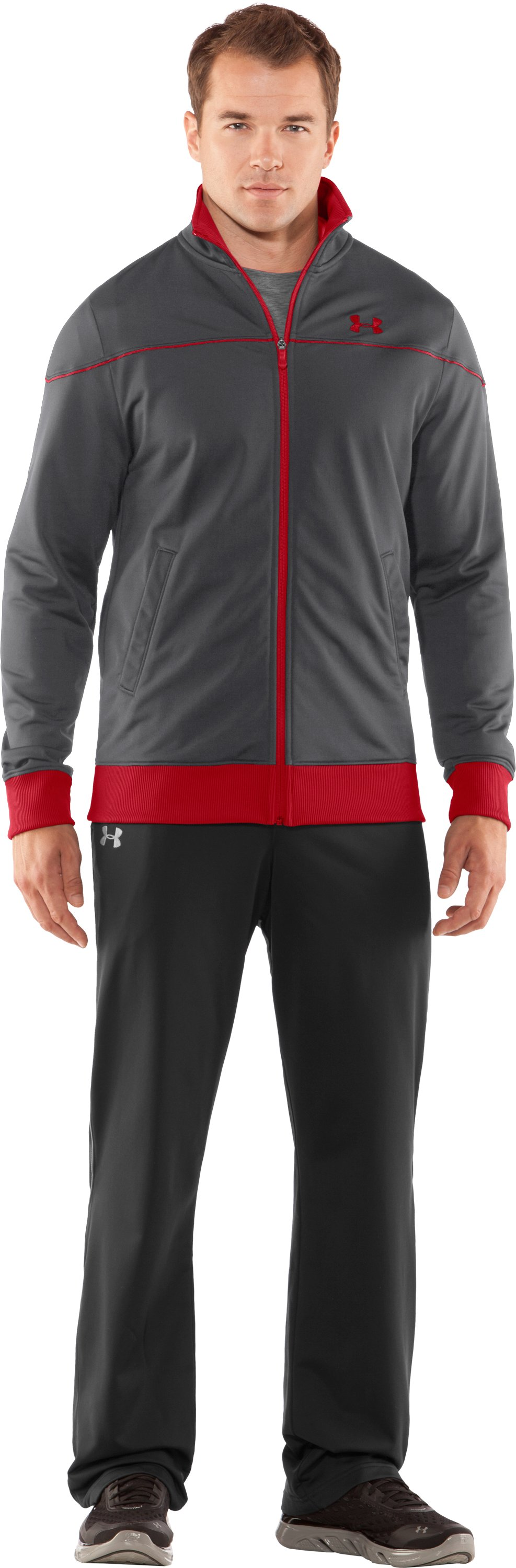 Men's UA Strength Track Jacket, Graphite, Front