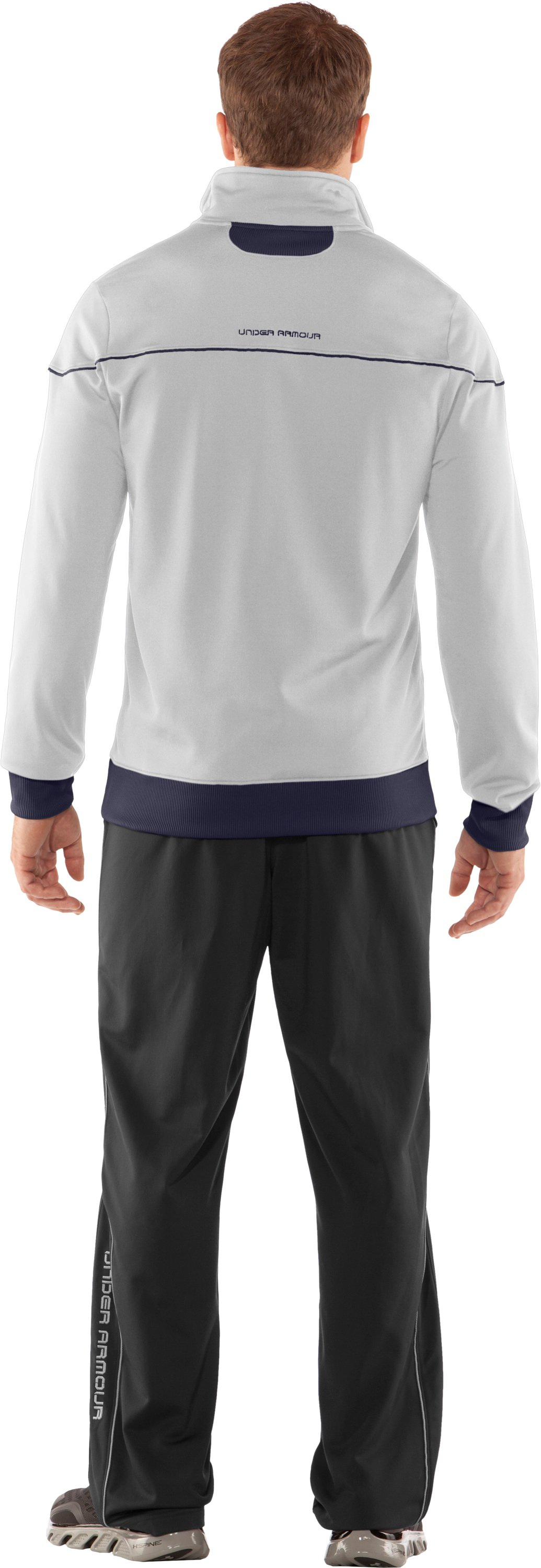 Men's UA Strength Track Jacket, White, Back