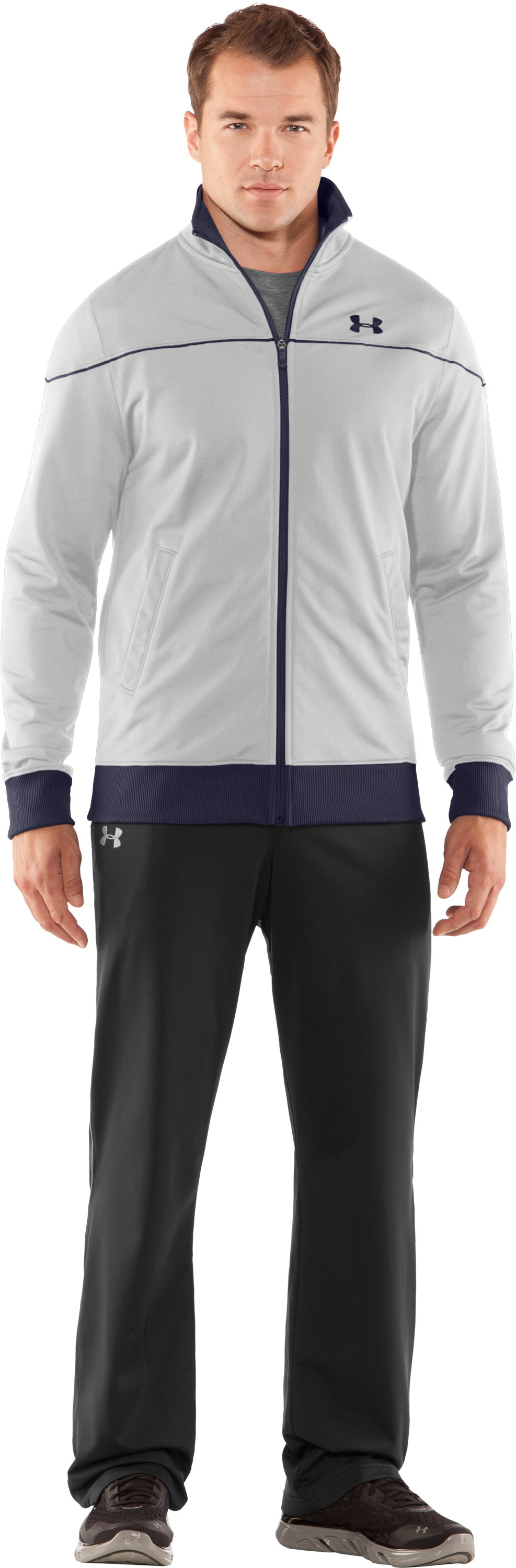 Men's UA Strength Track Jacket, White, Front
