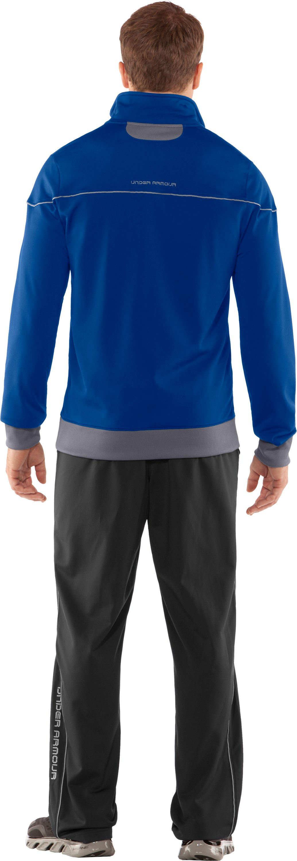 Men's UA Strength Track Jacket, Squadron, Back