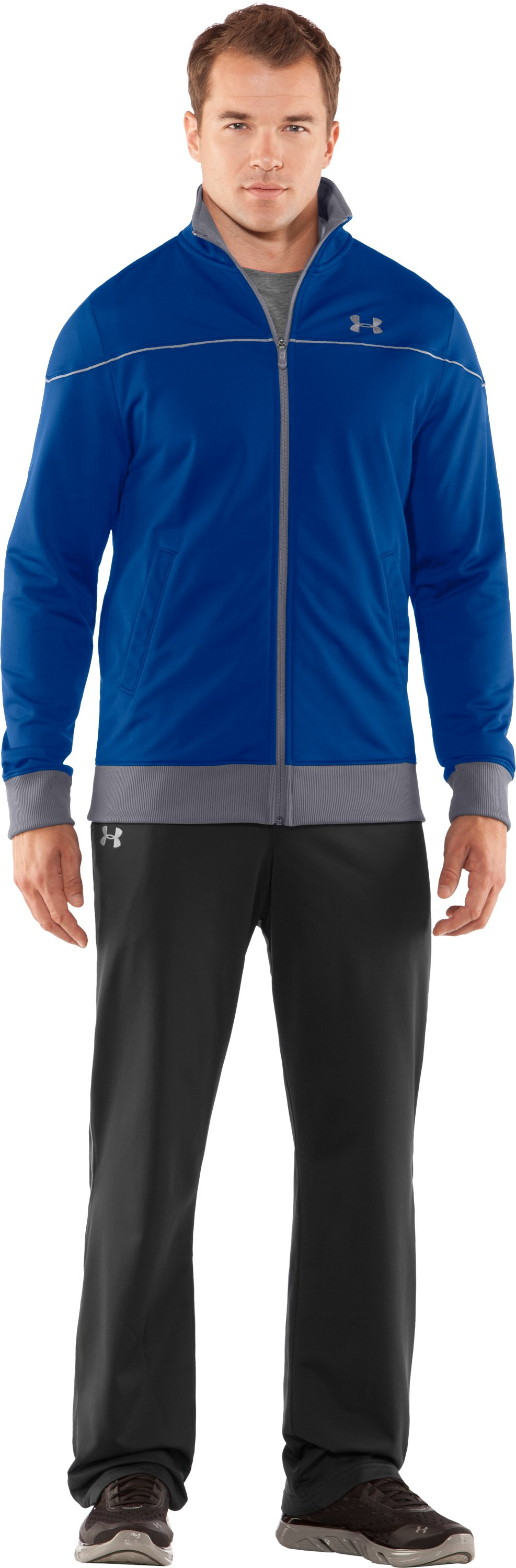 Men's UA Strength Track Jacket, Squadron, Front