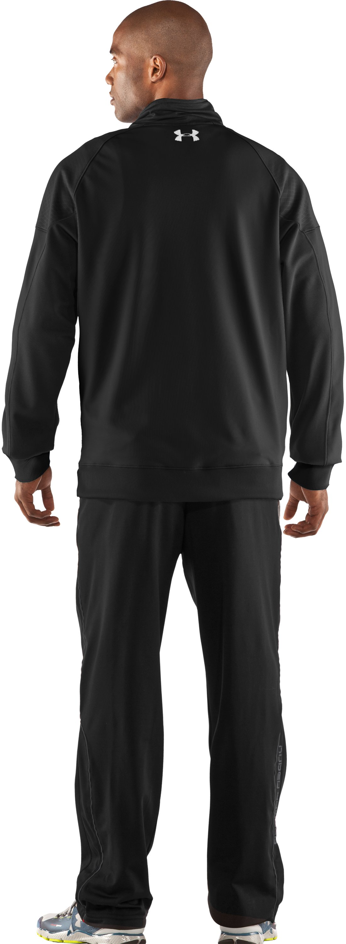 Men's UA Emilystic Track Jacket, Black , Back
