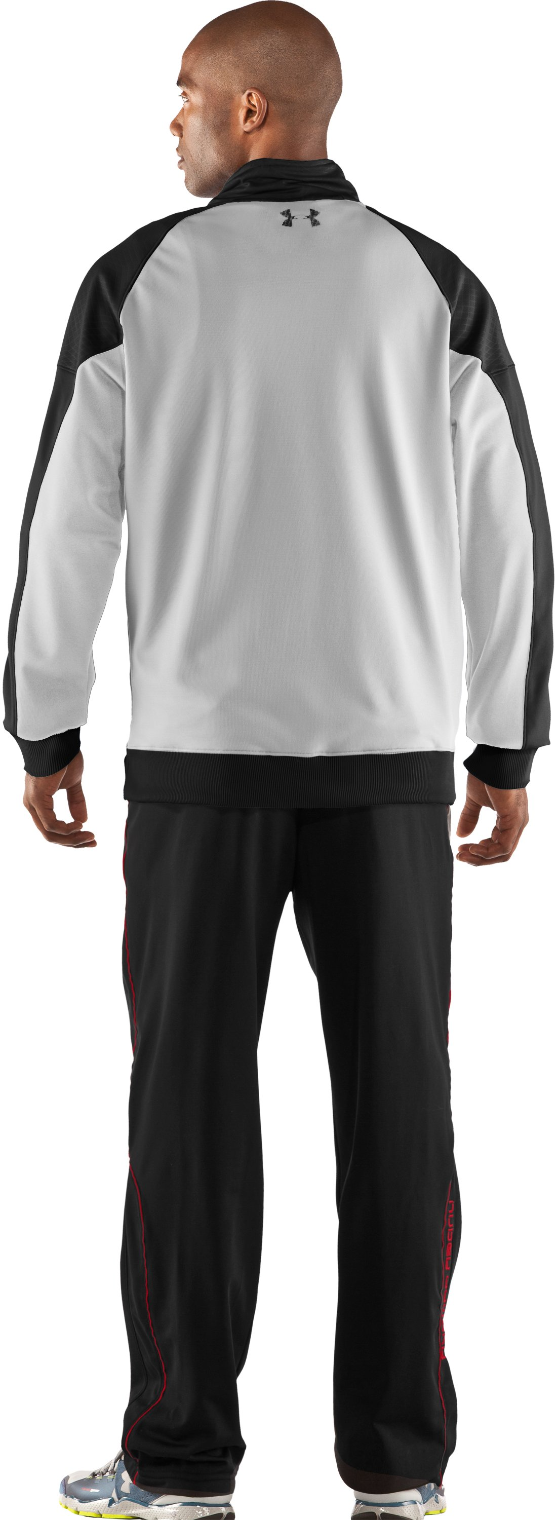 Men's UA Emilystic Track Jacket, White, Back