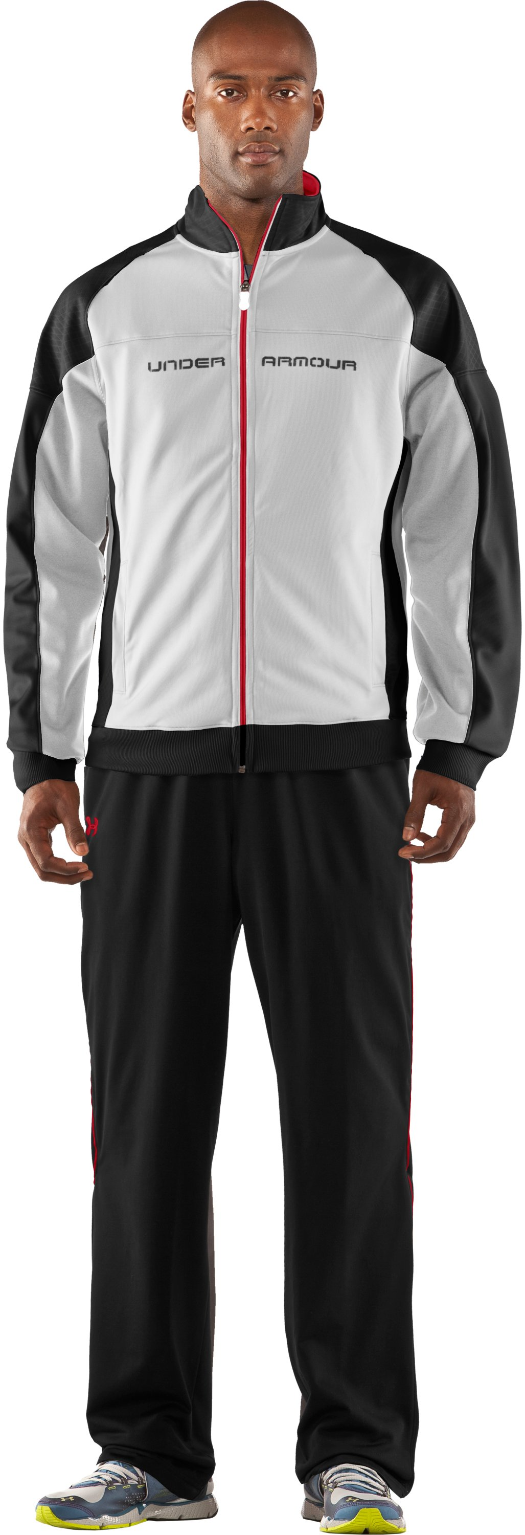 Men's UA Emilystic Track Jacket, White, Front