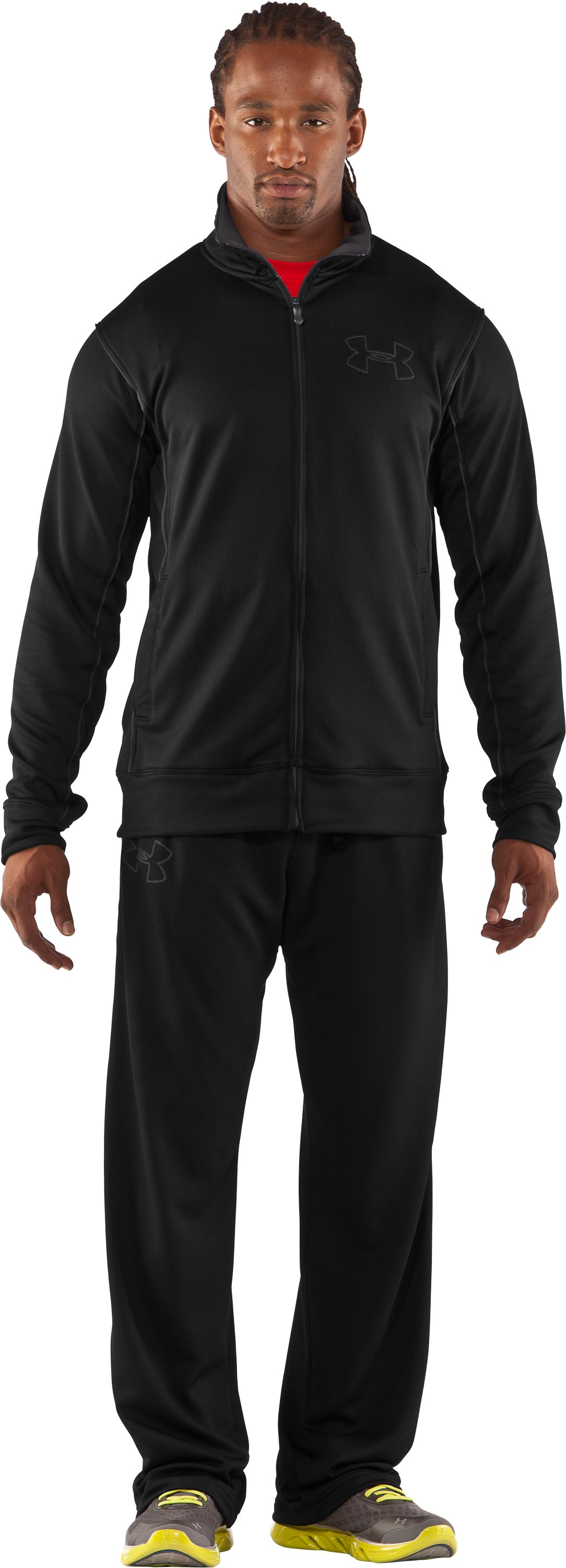 Men's UA Motion Warm-Up Jacket, Black , Front