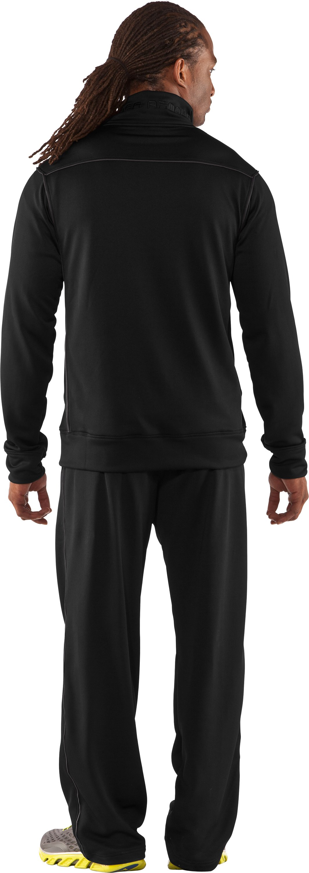 Men's UA Motion Warm-Up Pants, Black , Back