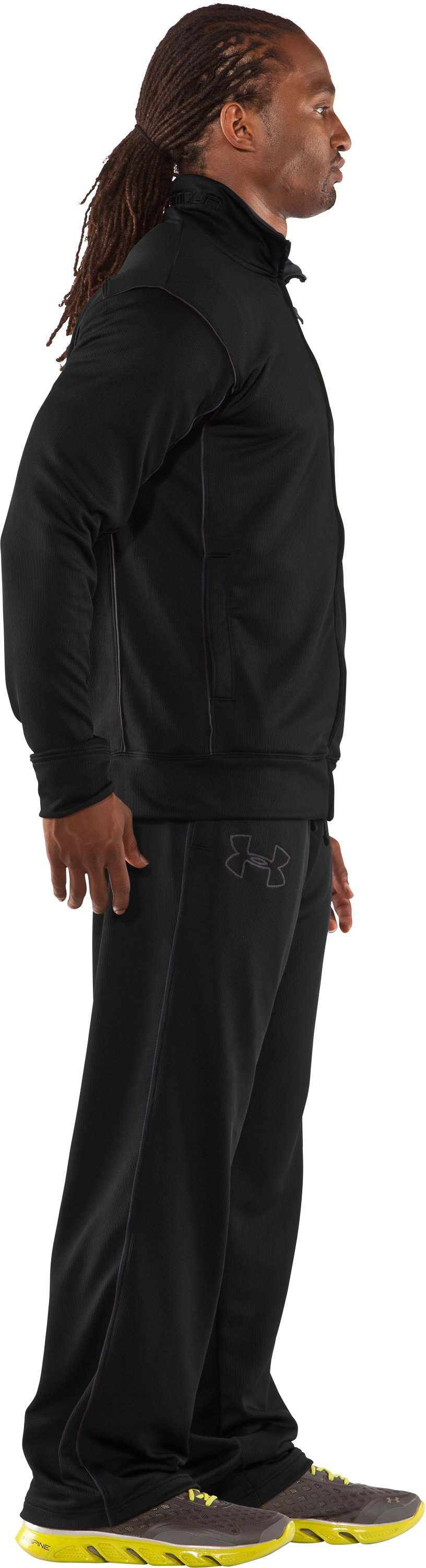 Men's UA Motion Warm-Up Pants, Black , undefined