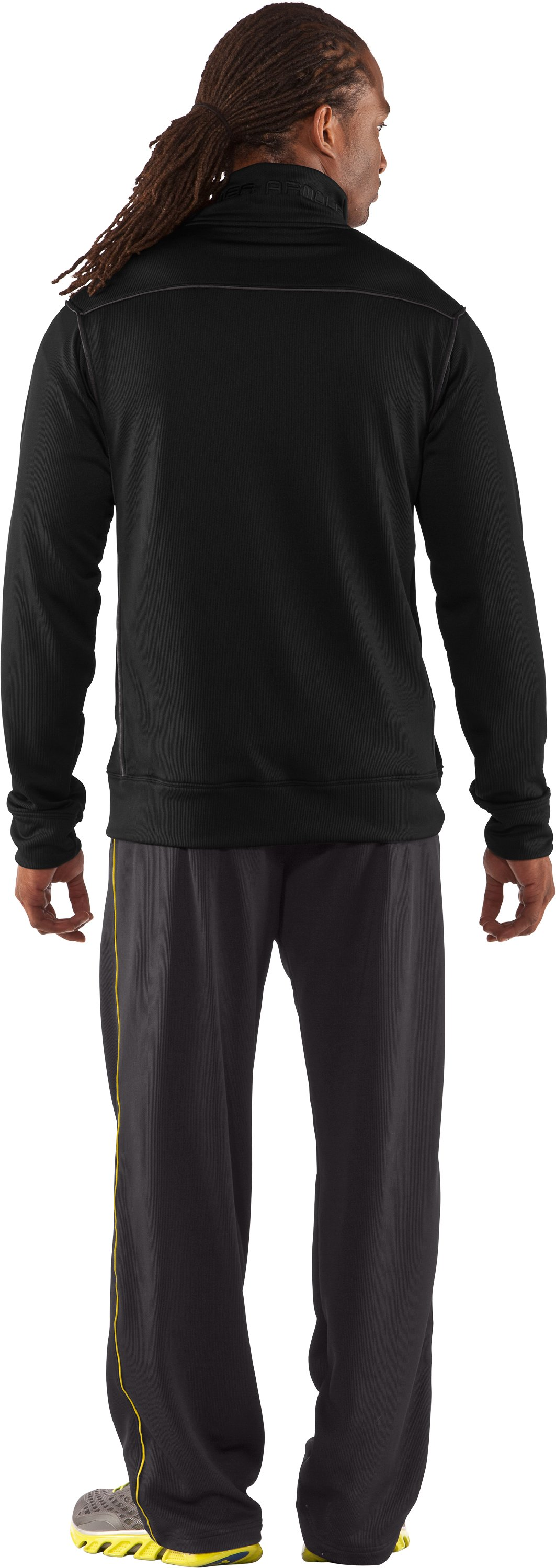 Men's UA Motion Warm-Up Pants, Charcoal, Back
