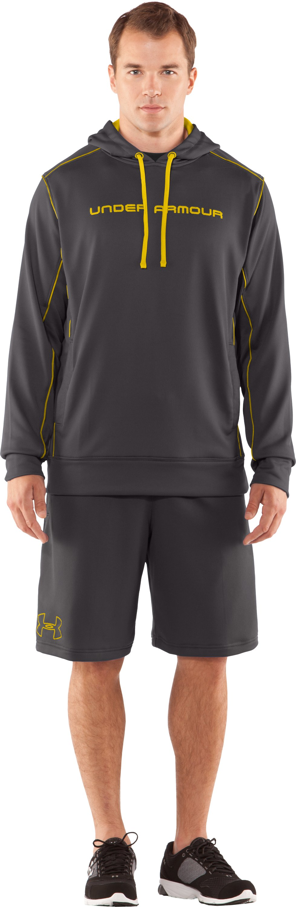 Men's UA Motion Shorts, Charcoal, Front