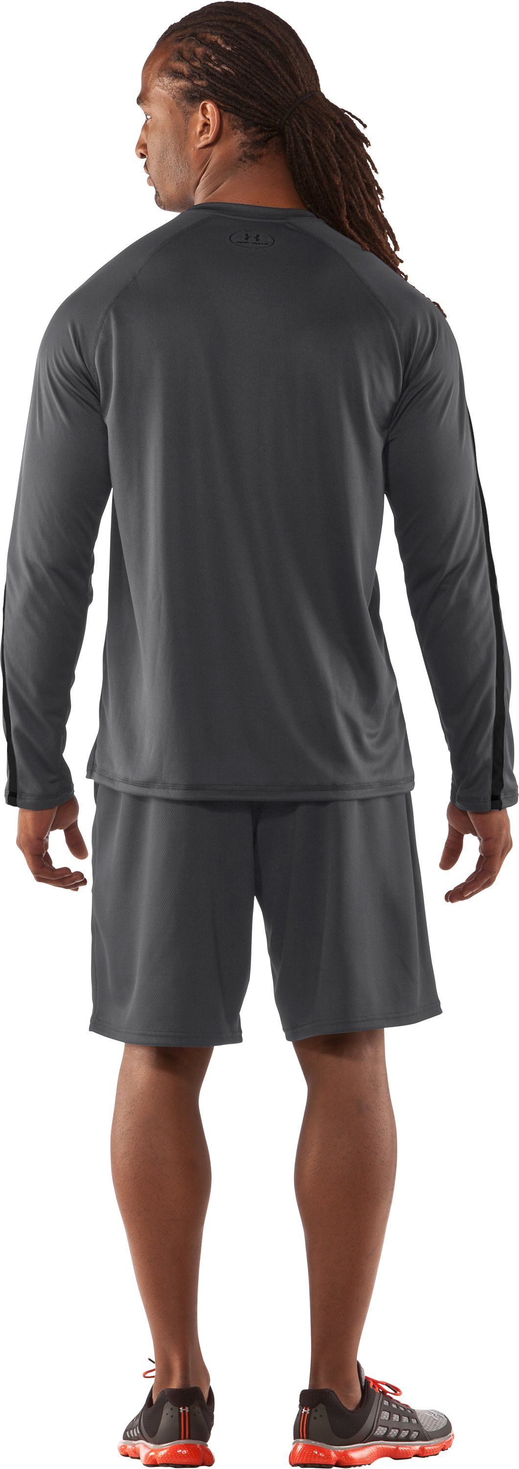Men's UA Zone IV Long Sleeve T-Shirt, Graphite, Back