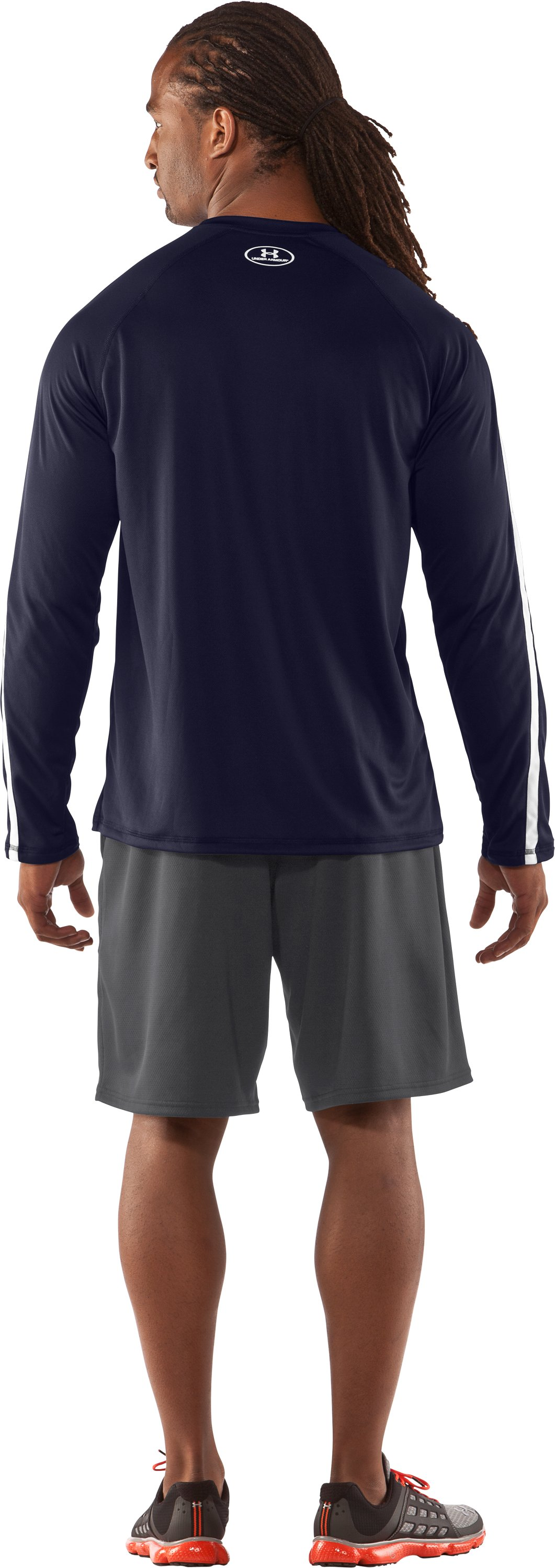 Men's UA Zone IV Long Sleeve T-Shirt, Midnight Navy, Back