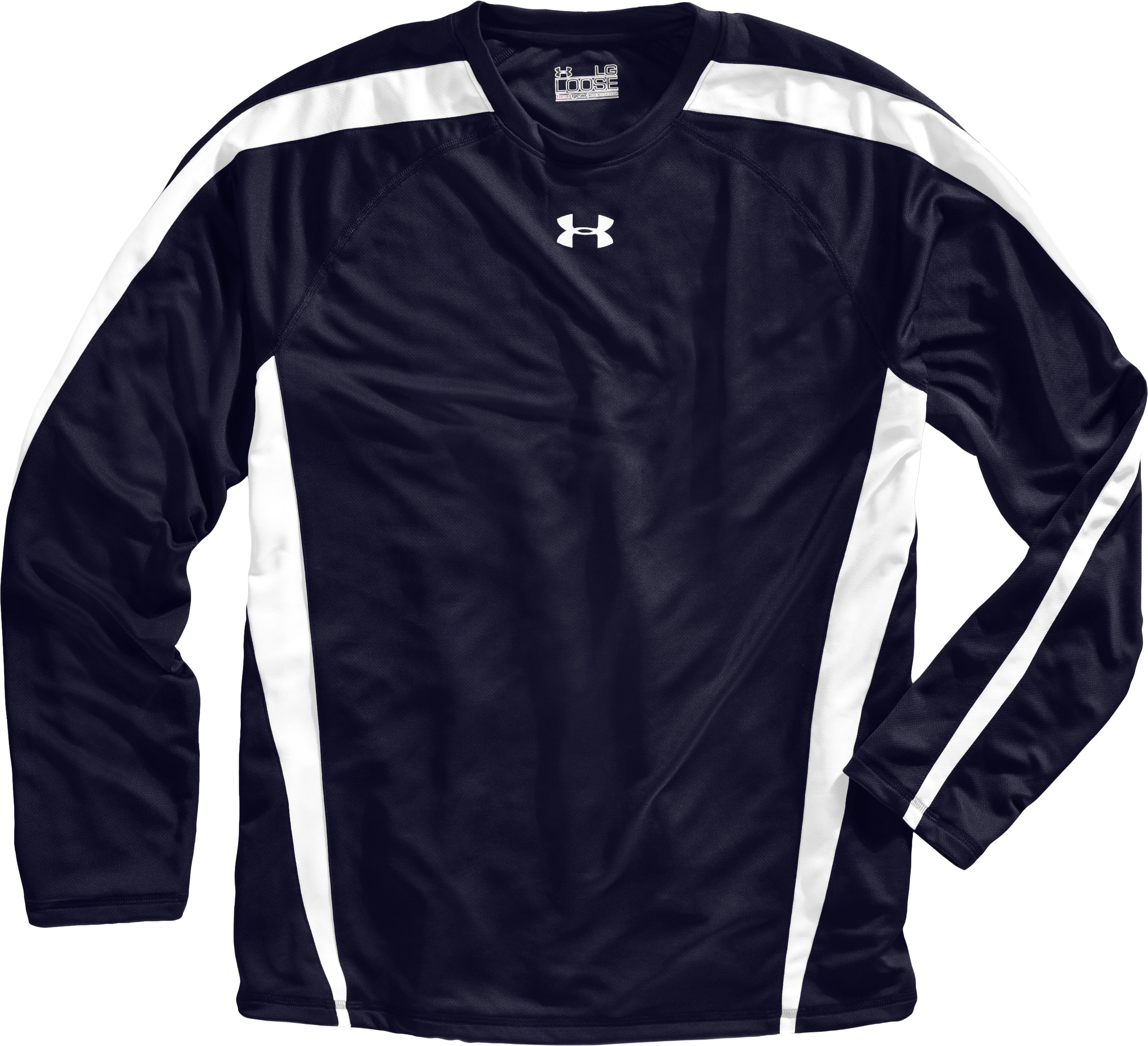 Men's UA Zone IV Long Sleeve T-Shirt, Midnight Navy, Laydown