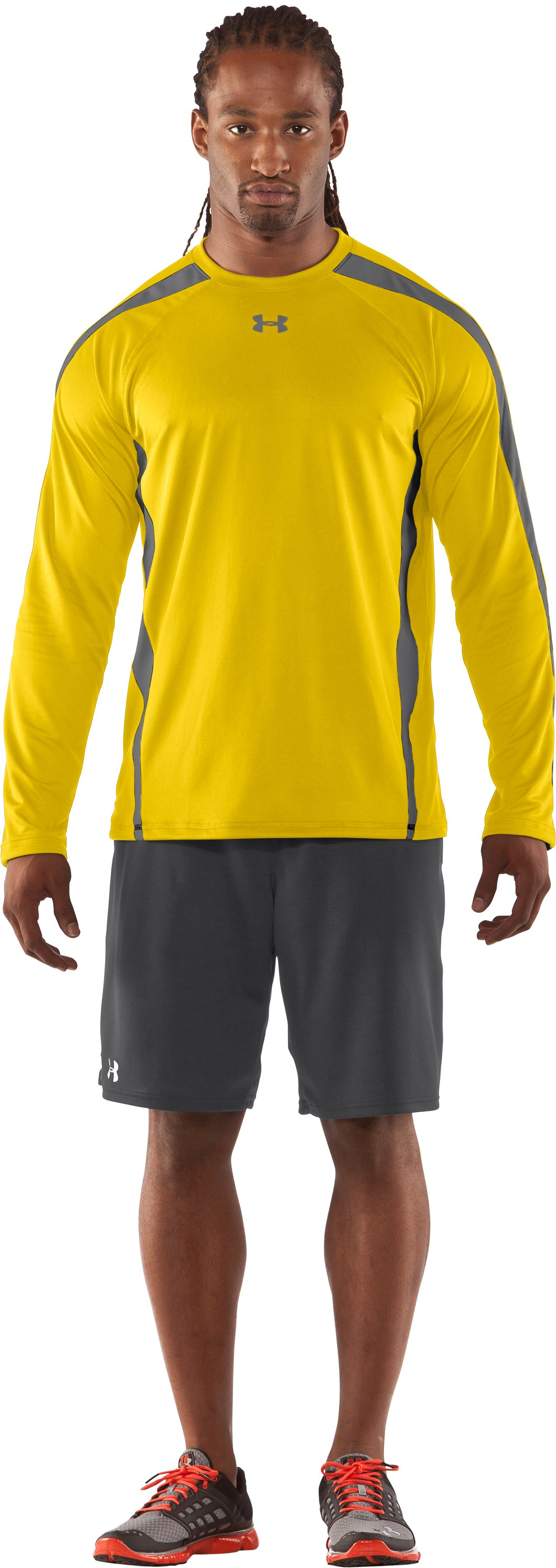 Men's UA Zone IV Long Sleeve T-Shirt, Taxi, zoomed image