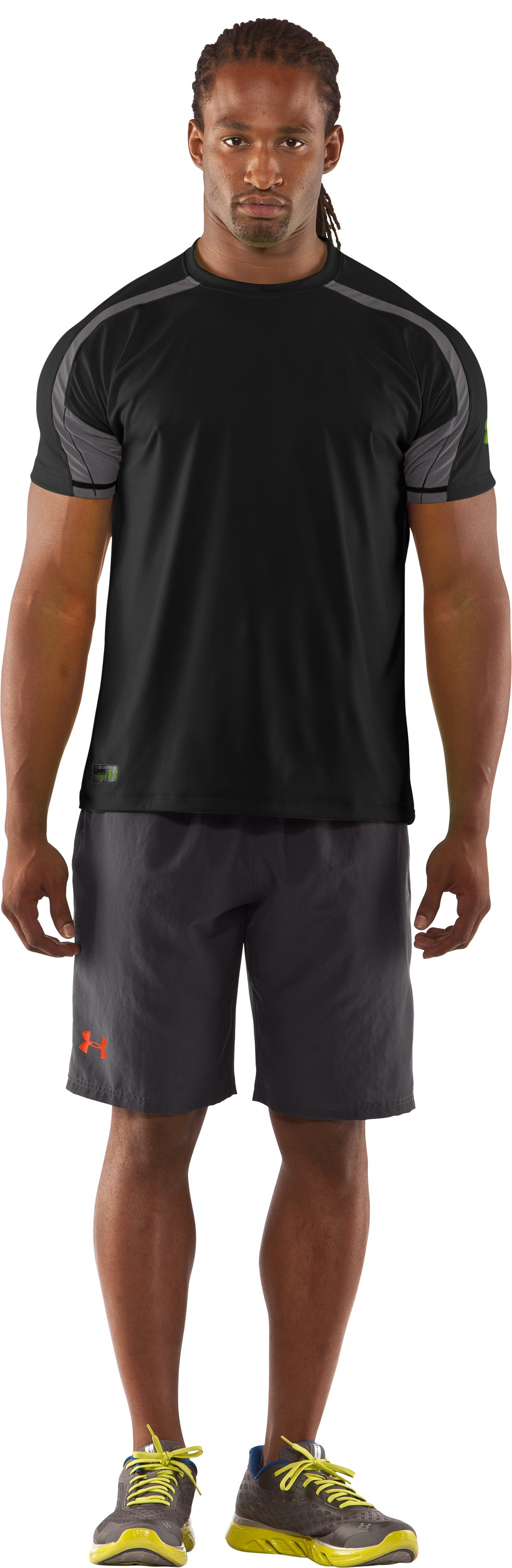 "Men's UA Combine® Training Plus 10"" Shorts, Charcoal"