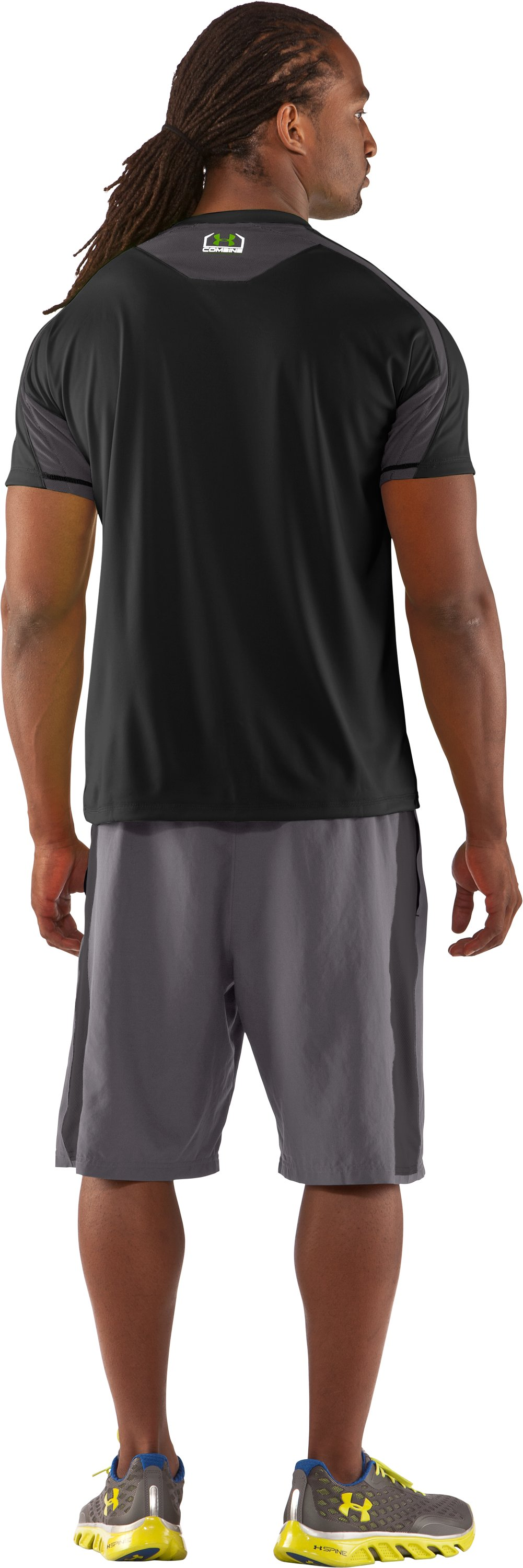 Men's UA Combine® Training Short Sleeve T-Shirt, Black , Back