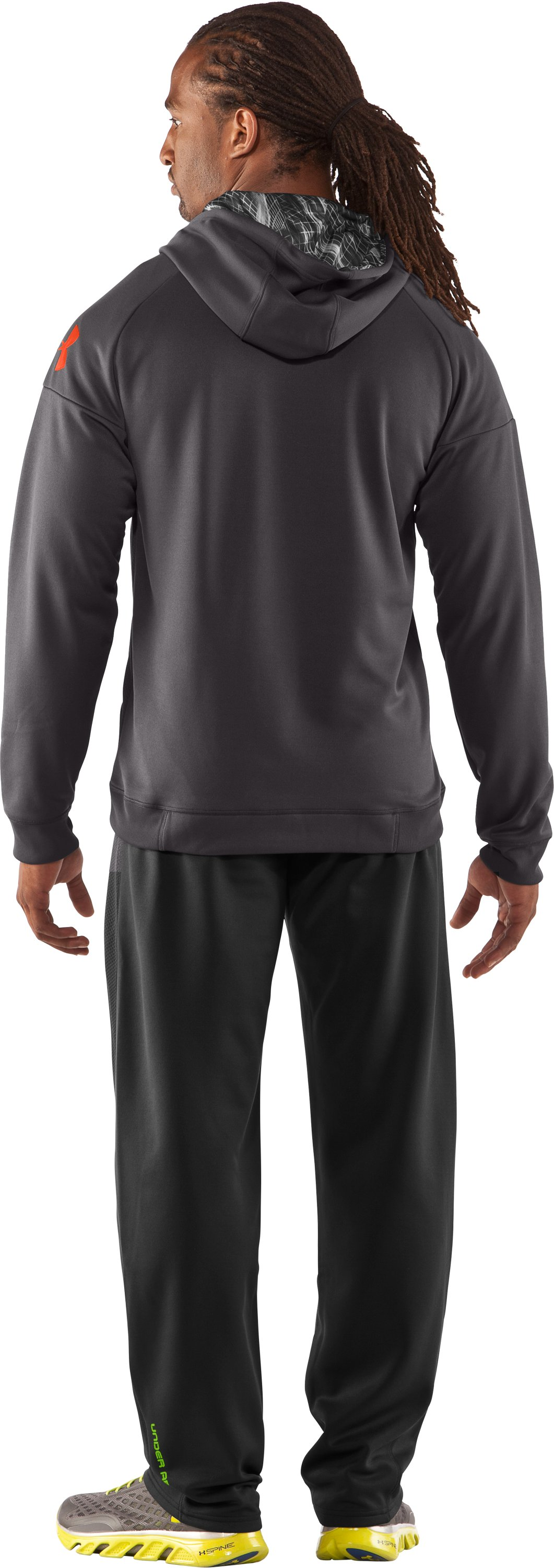 Men's UA Combine® Training Fleece Pants, Black , Back