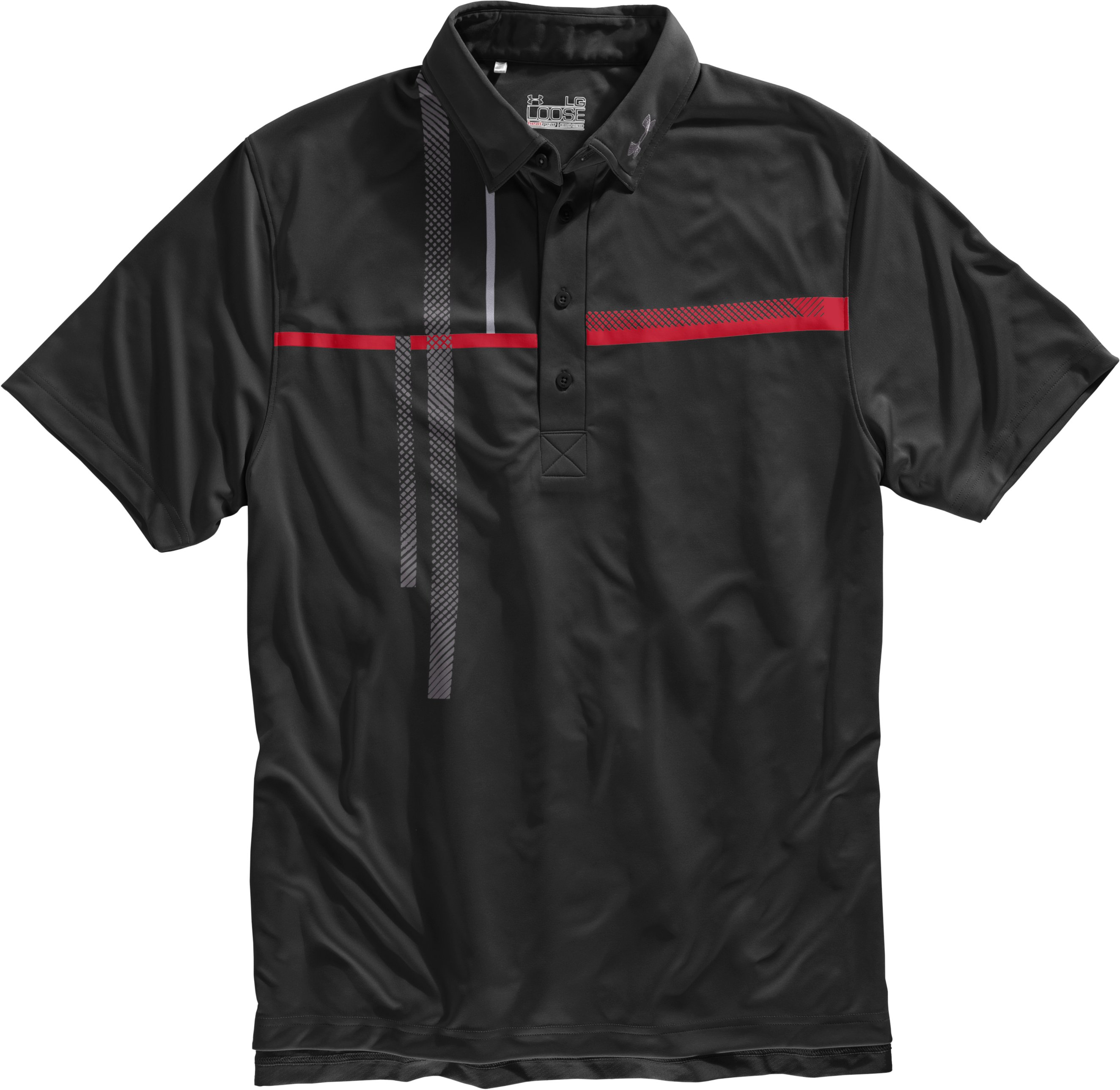Men's UA Performance Graphic Polo, Black , Laydown