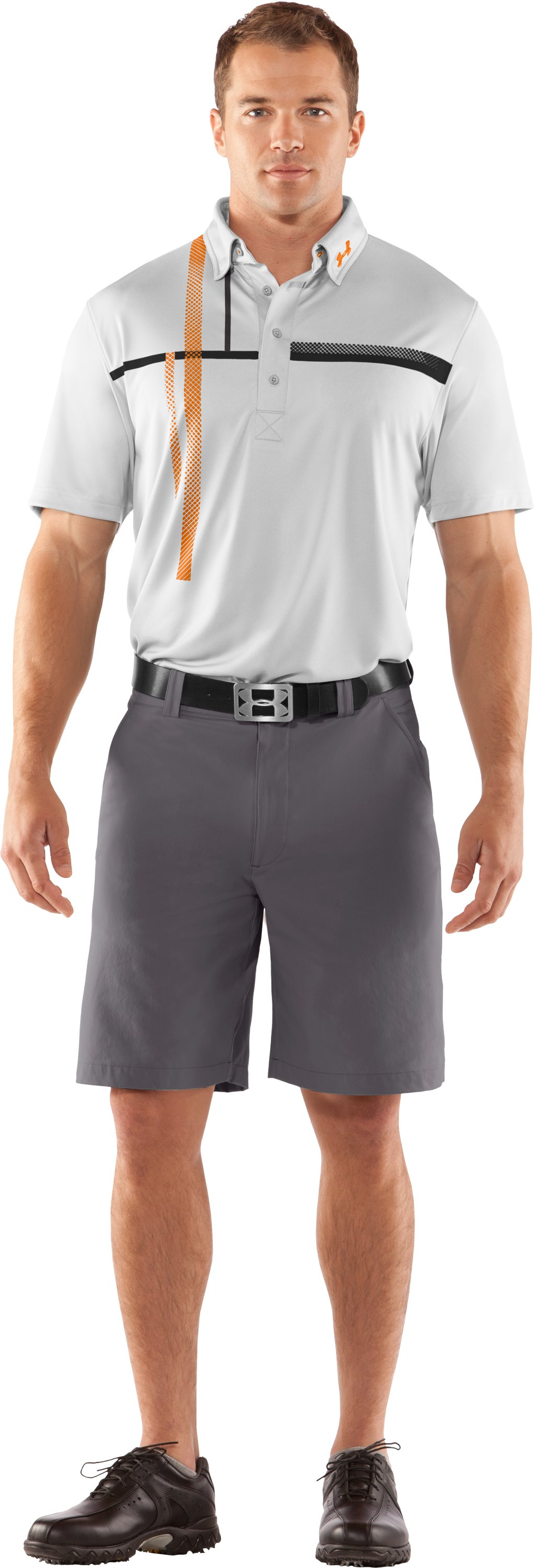 Men's UA Performance Graphic Polo, White, zoomed image