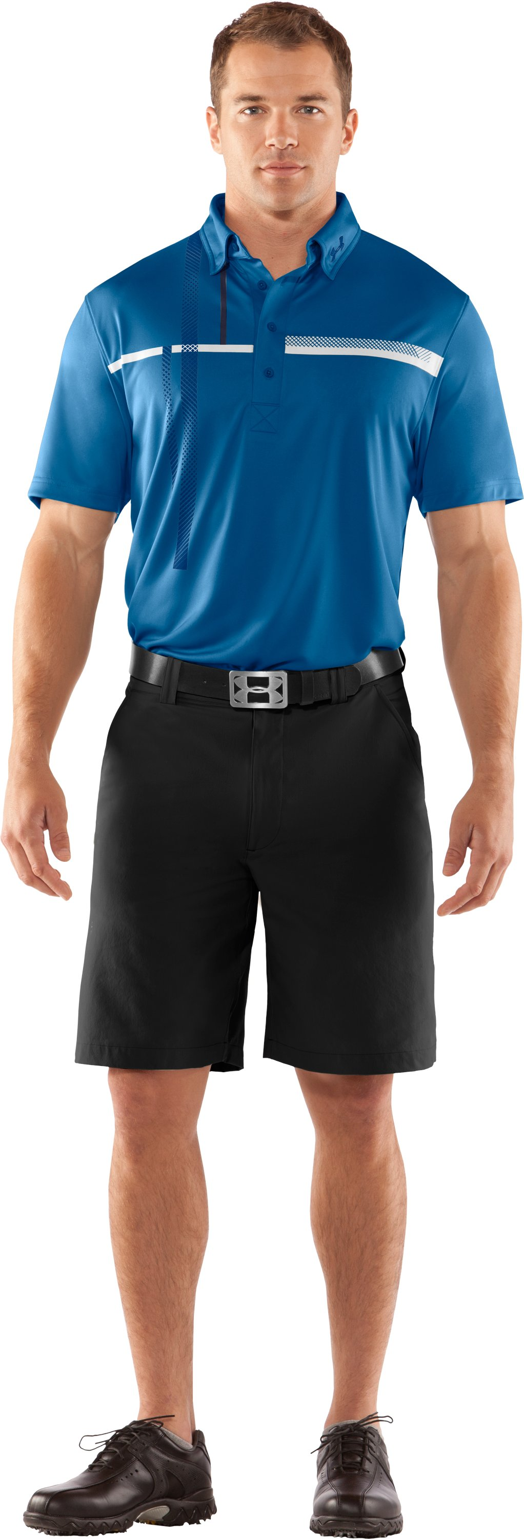 Men's UA Performance Graphic Polo, Marine, zoomed image
